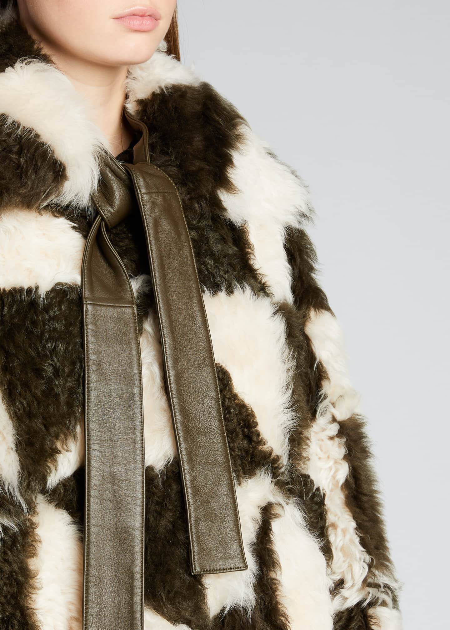 Image 4 of 5: Margot Two-Tone Shearling Coat