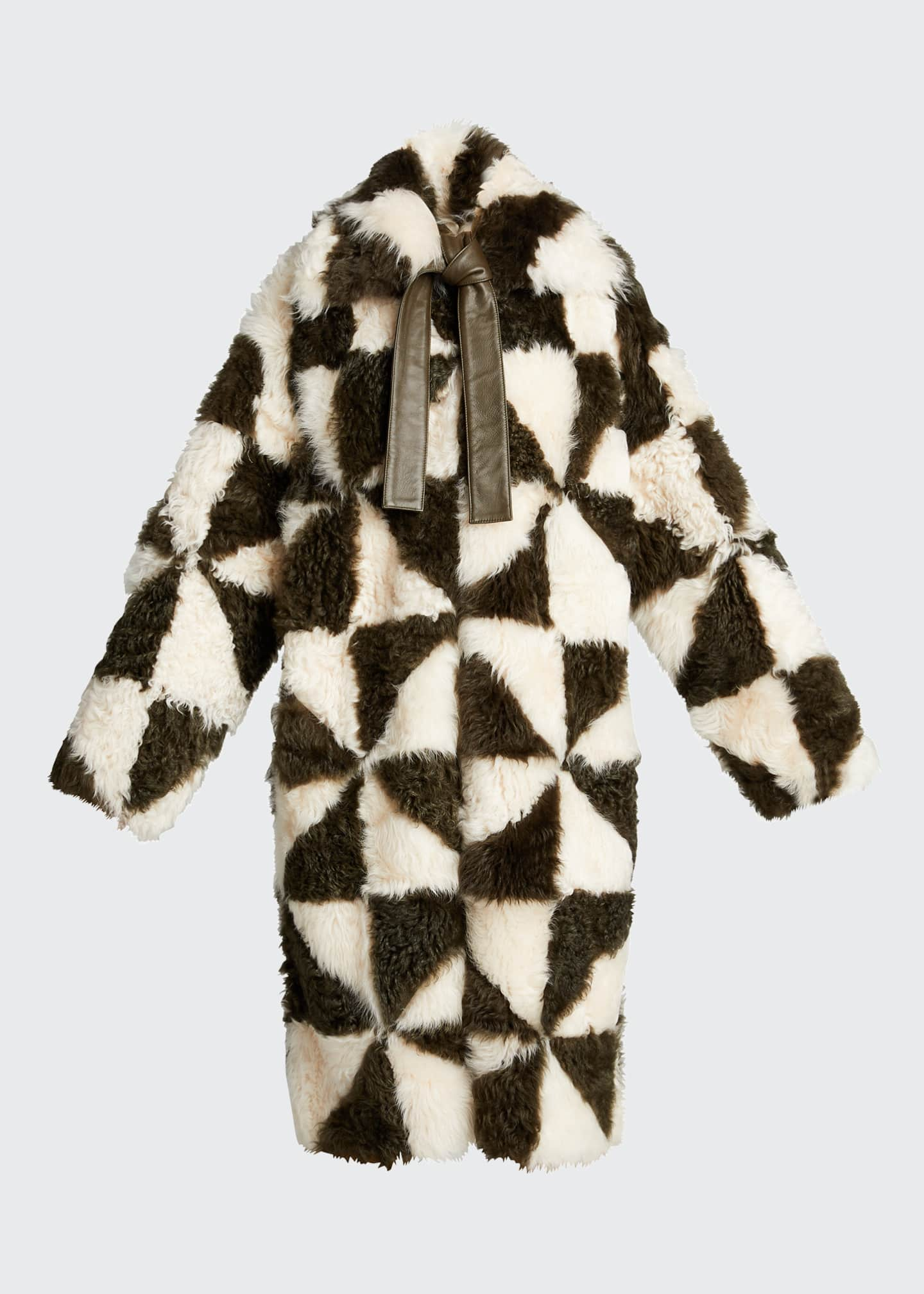Image 5 of 5: Margot Two-Tone Shearling Coat