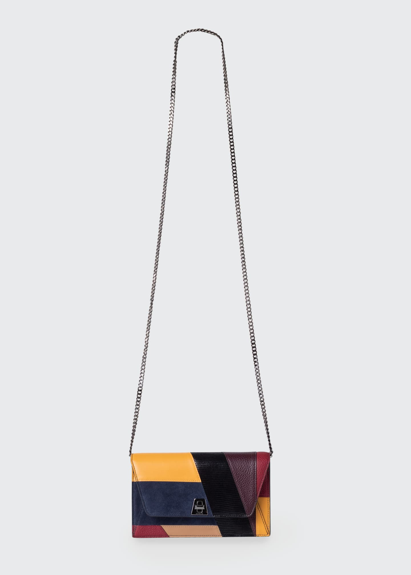 Image 3 of 4: Anouk Orphisme Patchwork Chain Clutch Bag