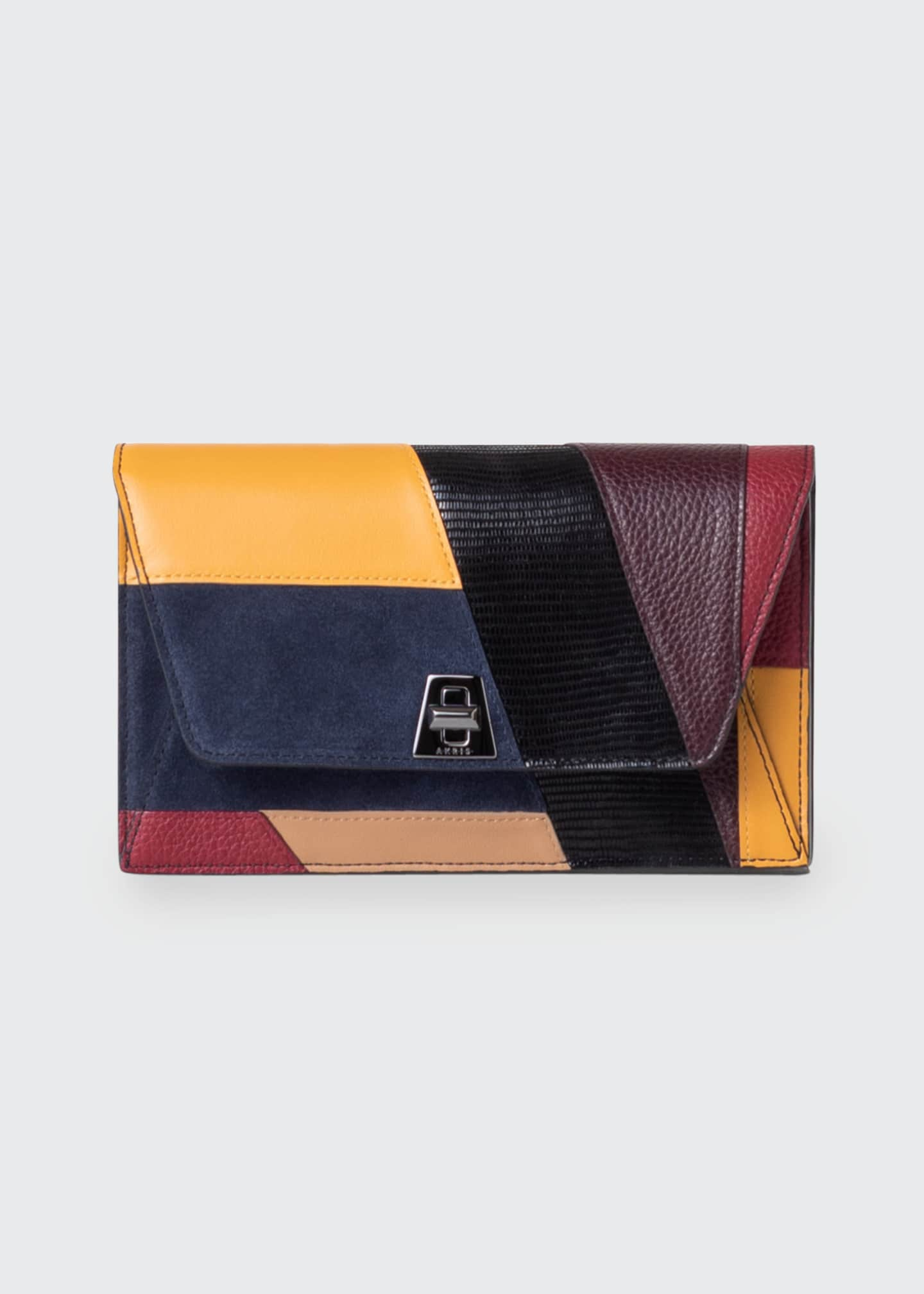 Image 1 of 4: Anouk Orphisme Patchwork Chain Clutch Bag