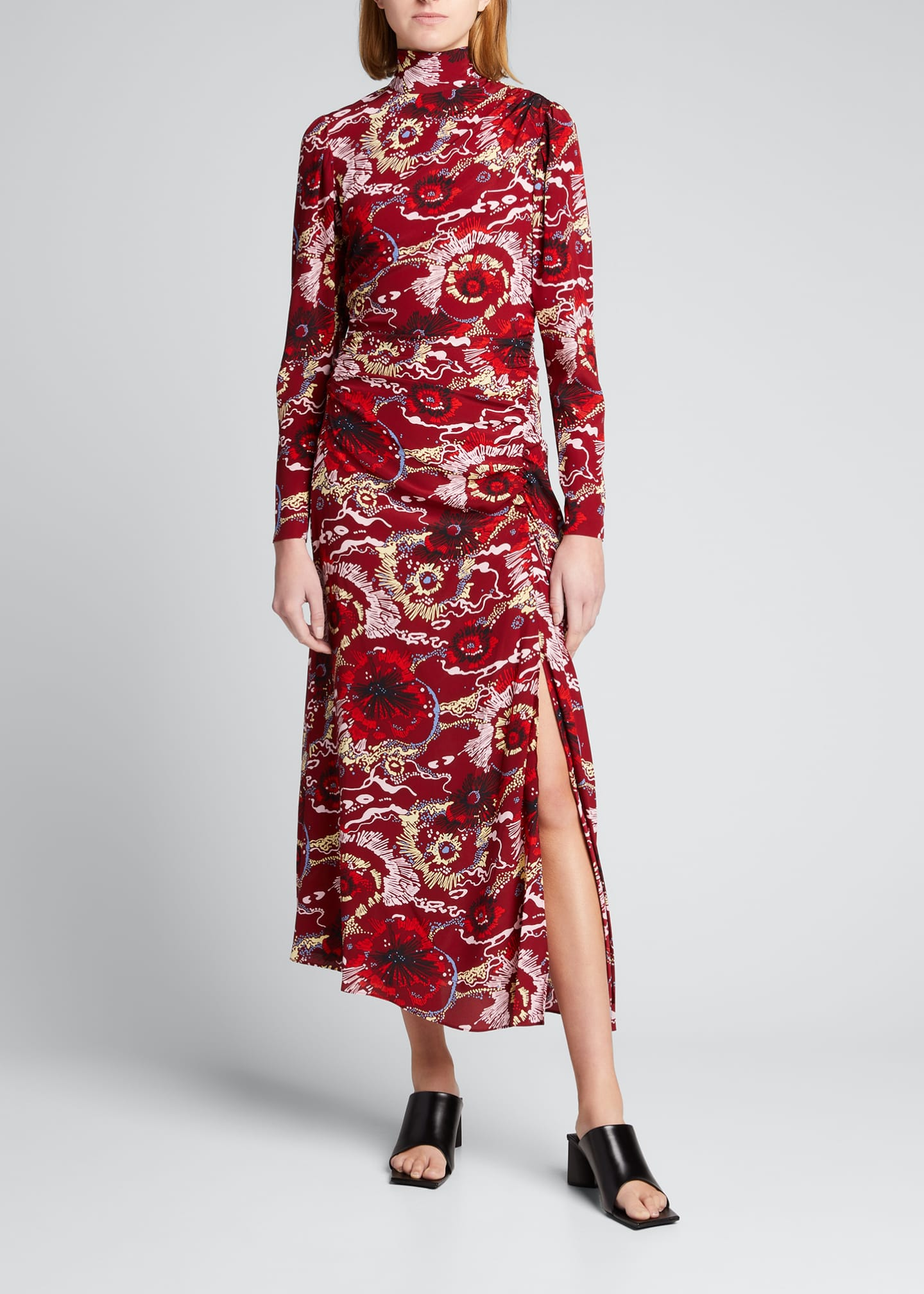 Image 1 of 3: Isabella Long-Sleeve Cocktail Dress