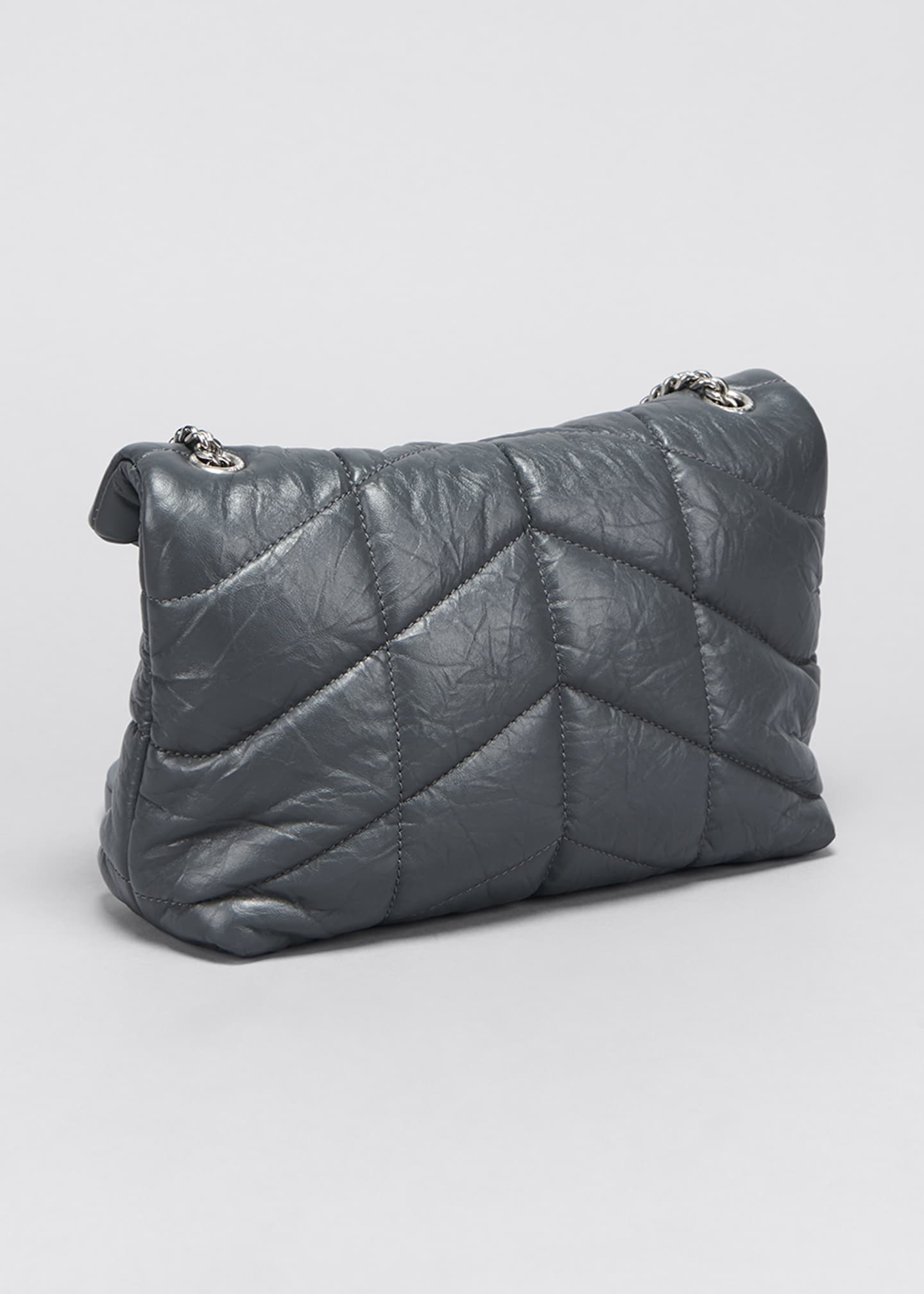 Image 3 of 5: LouLou Toy YSL Puffer Quilted Matte Leather Crossbody Bag
