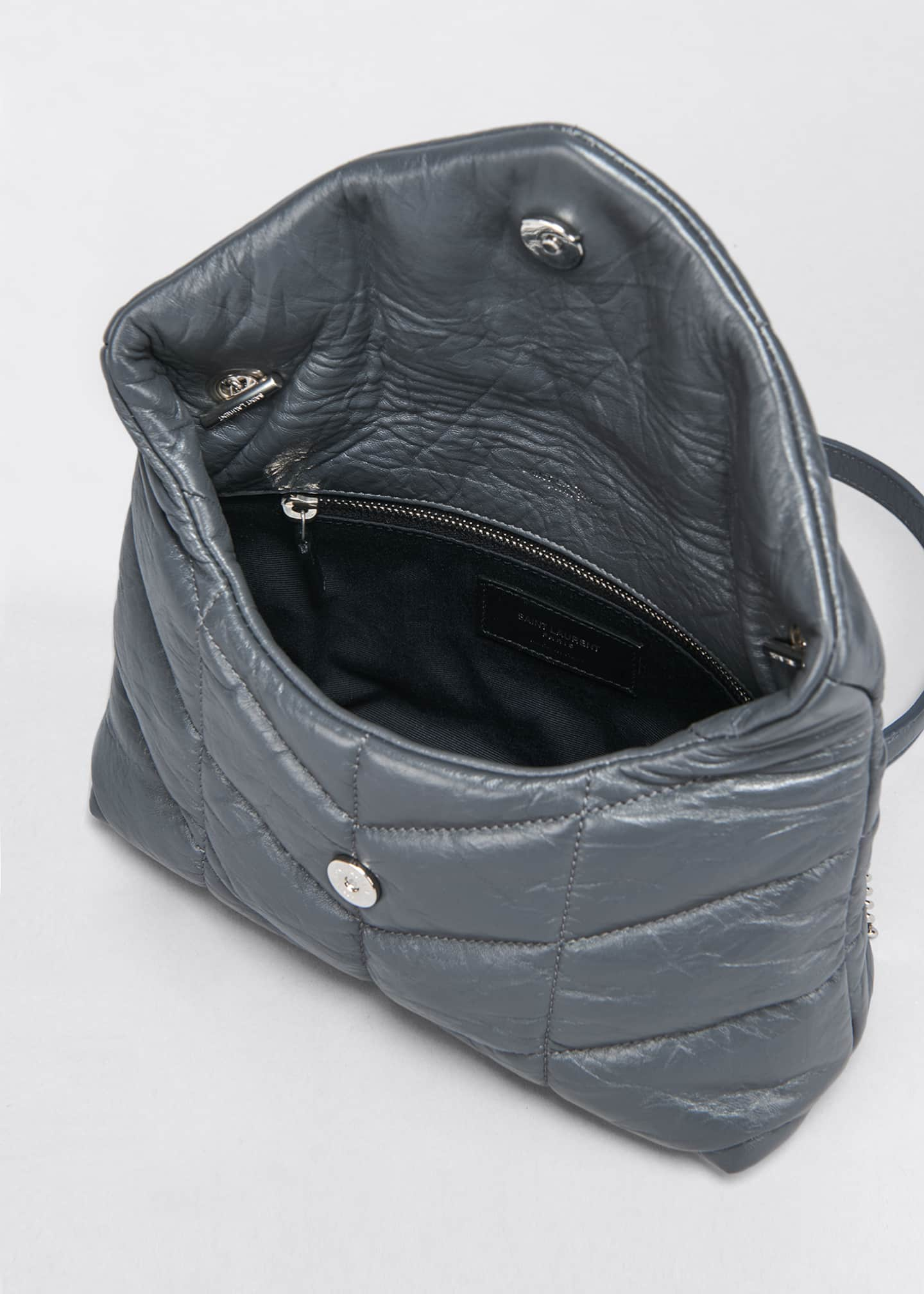 Image 4 of 5: LouLou Toy YSL Puffer Quilted Matte Leather Crossbody Bag