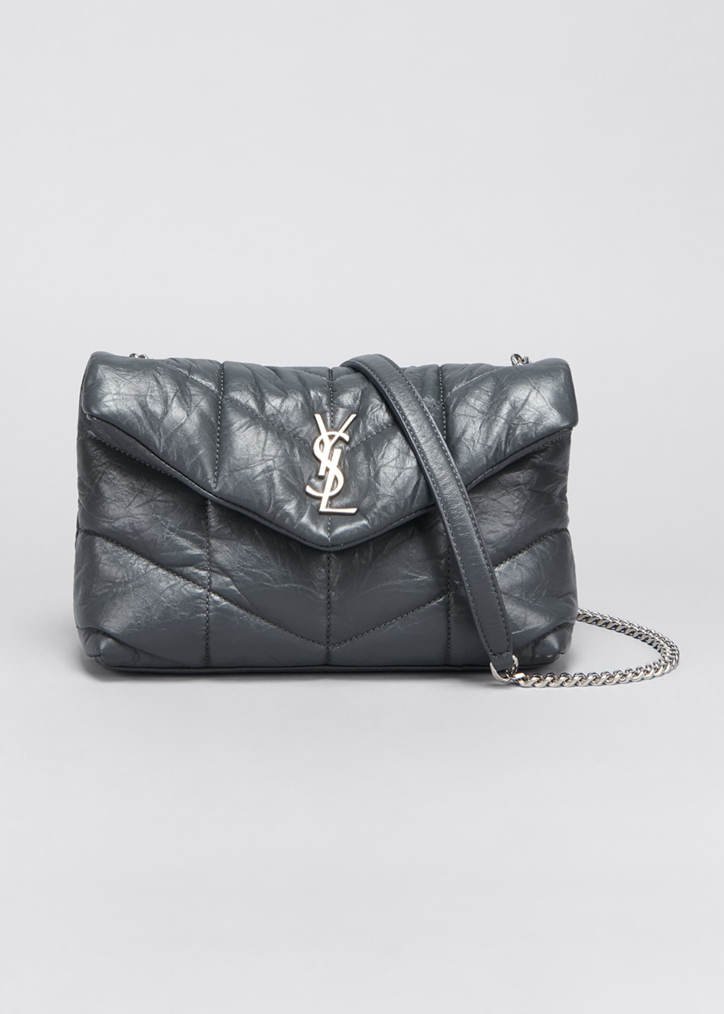 Image 1 of 5: LouLou Toy YSL Puffer Quilted Matte Leather Crossbody Bag