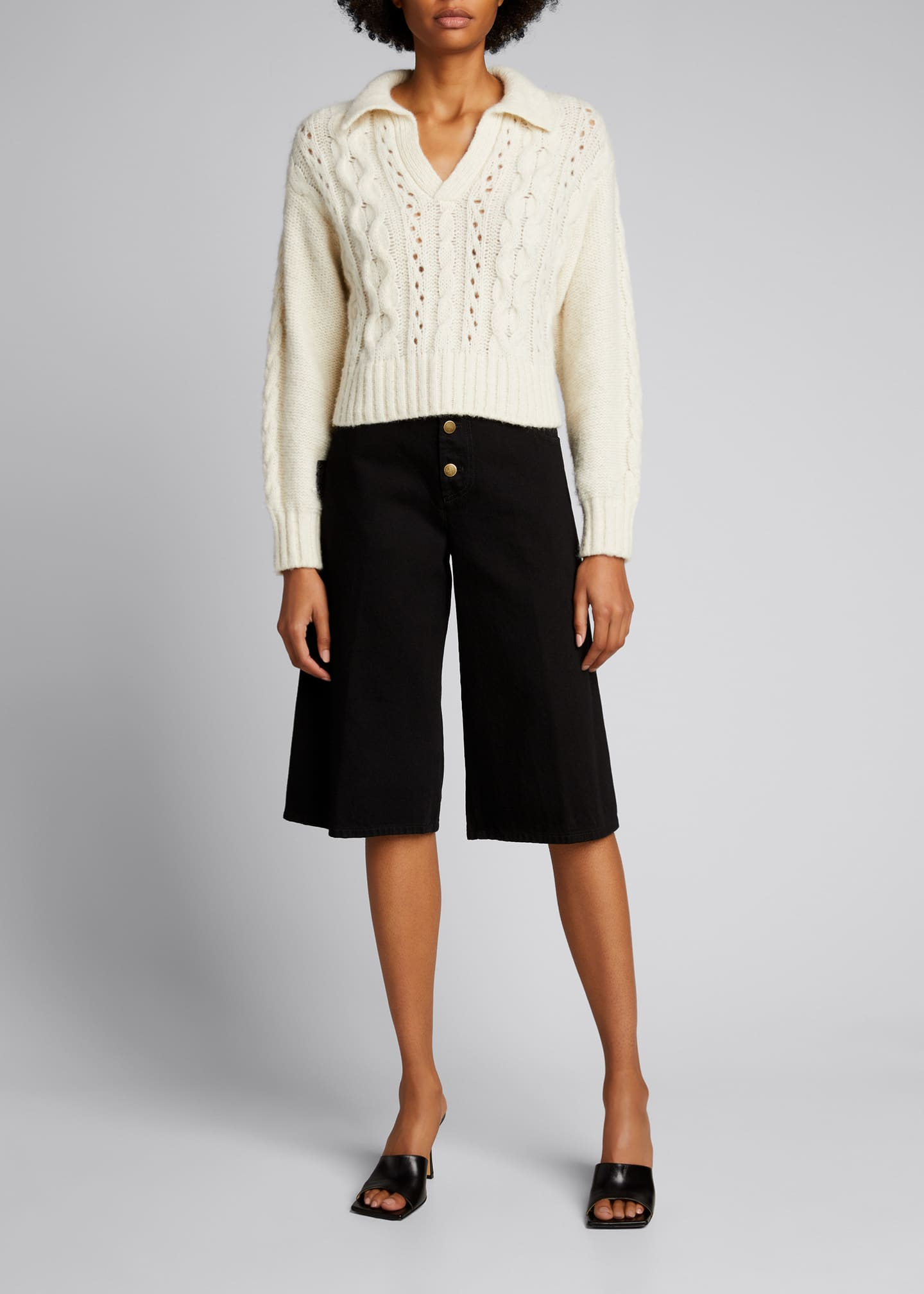 Image 1 of 5: Torino Cropped Sweater