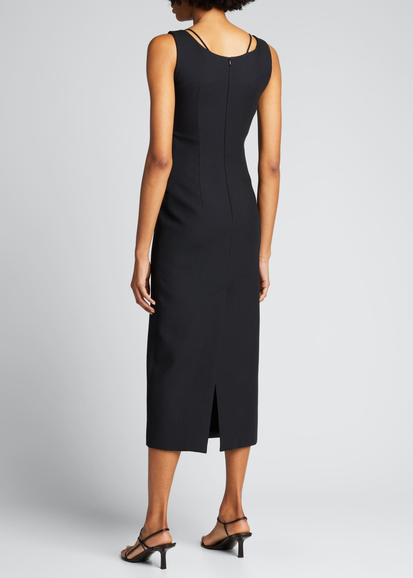 Image 2 of 5: Crisscross Fitted Midi Dress