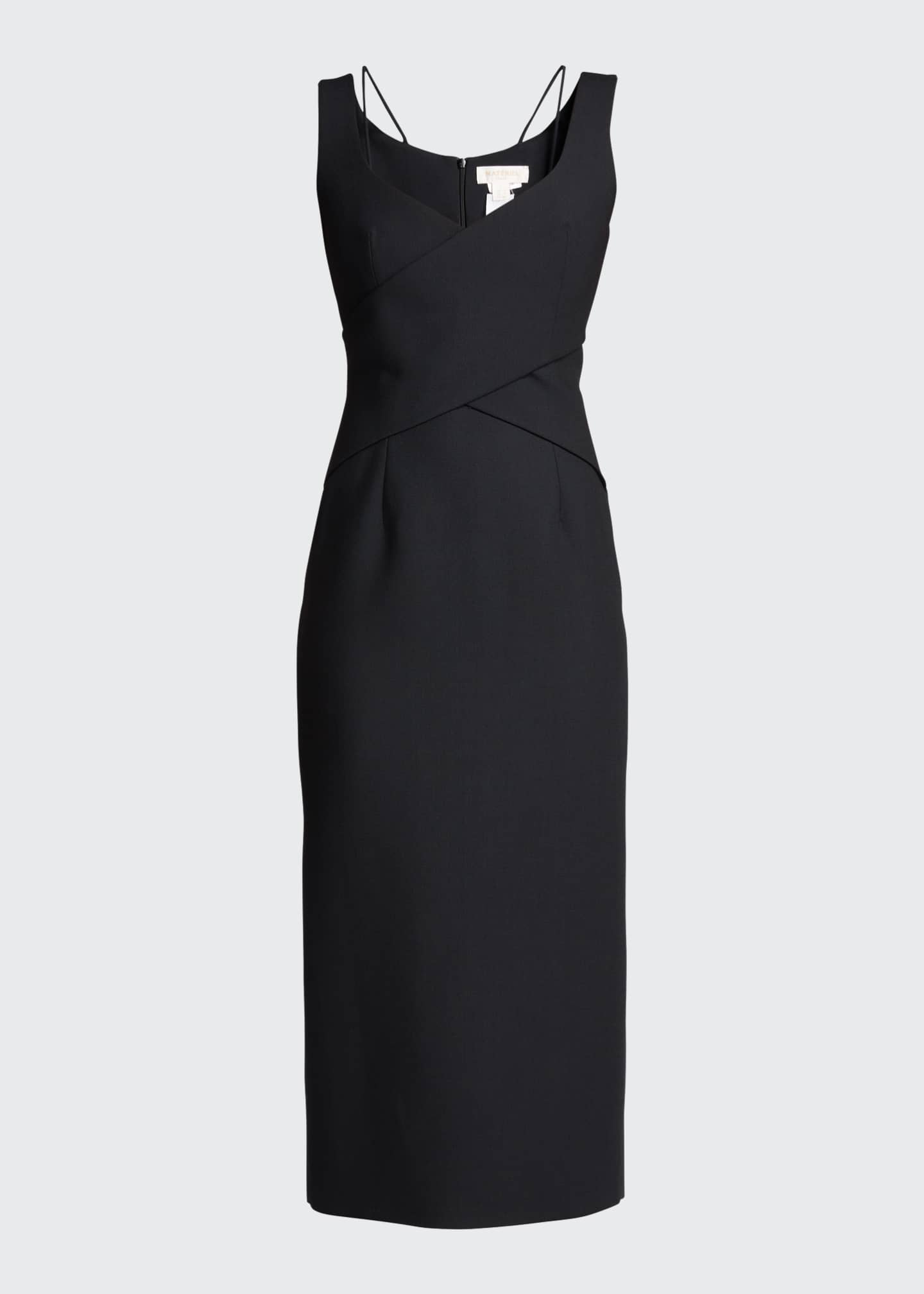 Image 5 of 5: Crisscross Fitted Midi Dress