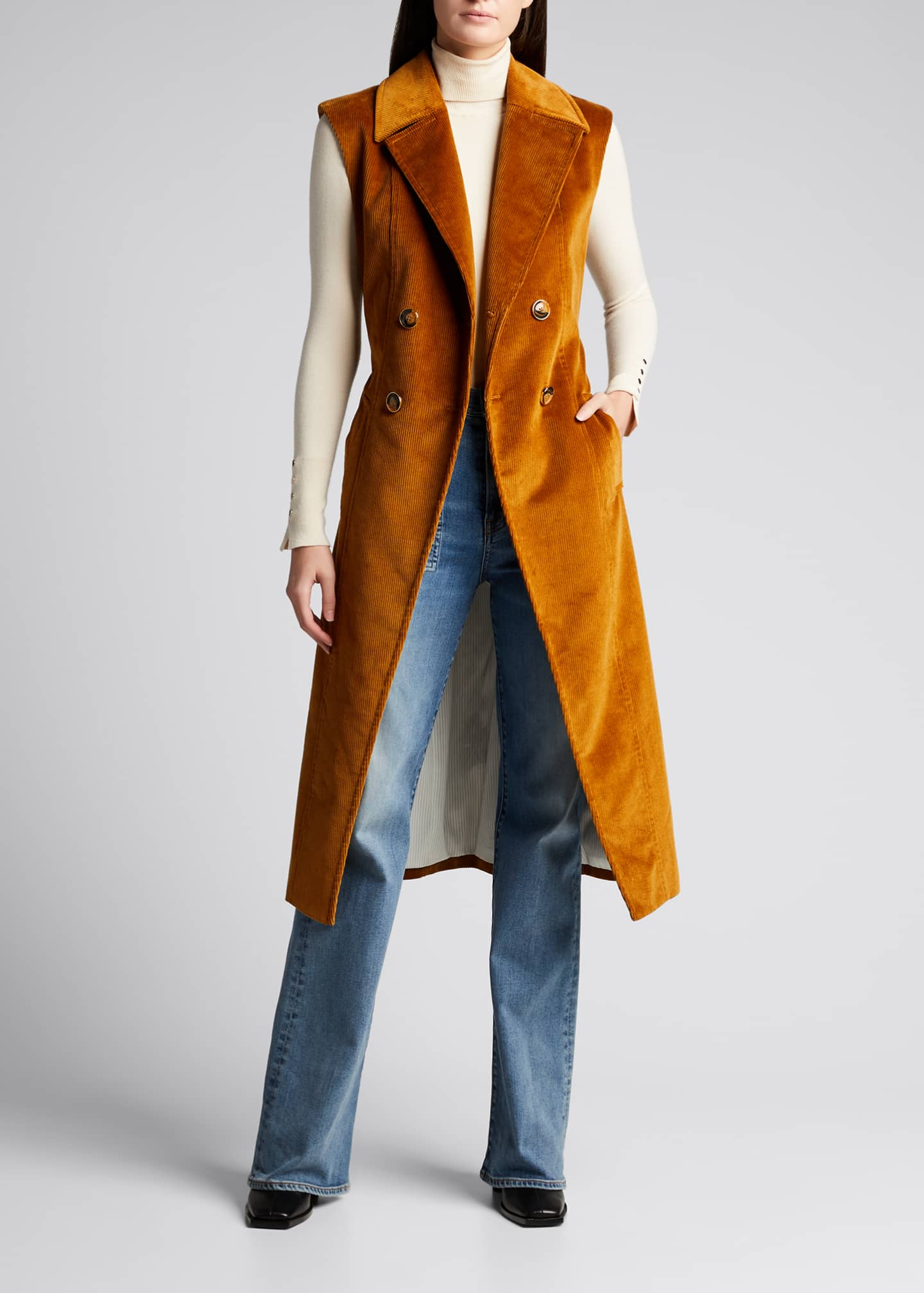 Image 3 of 5: Fayette Long Cotton Vest