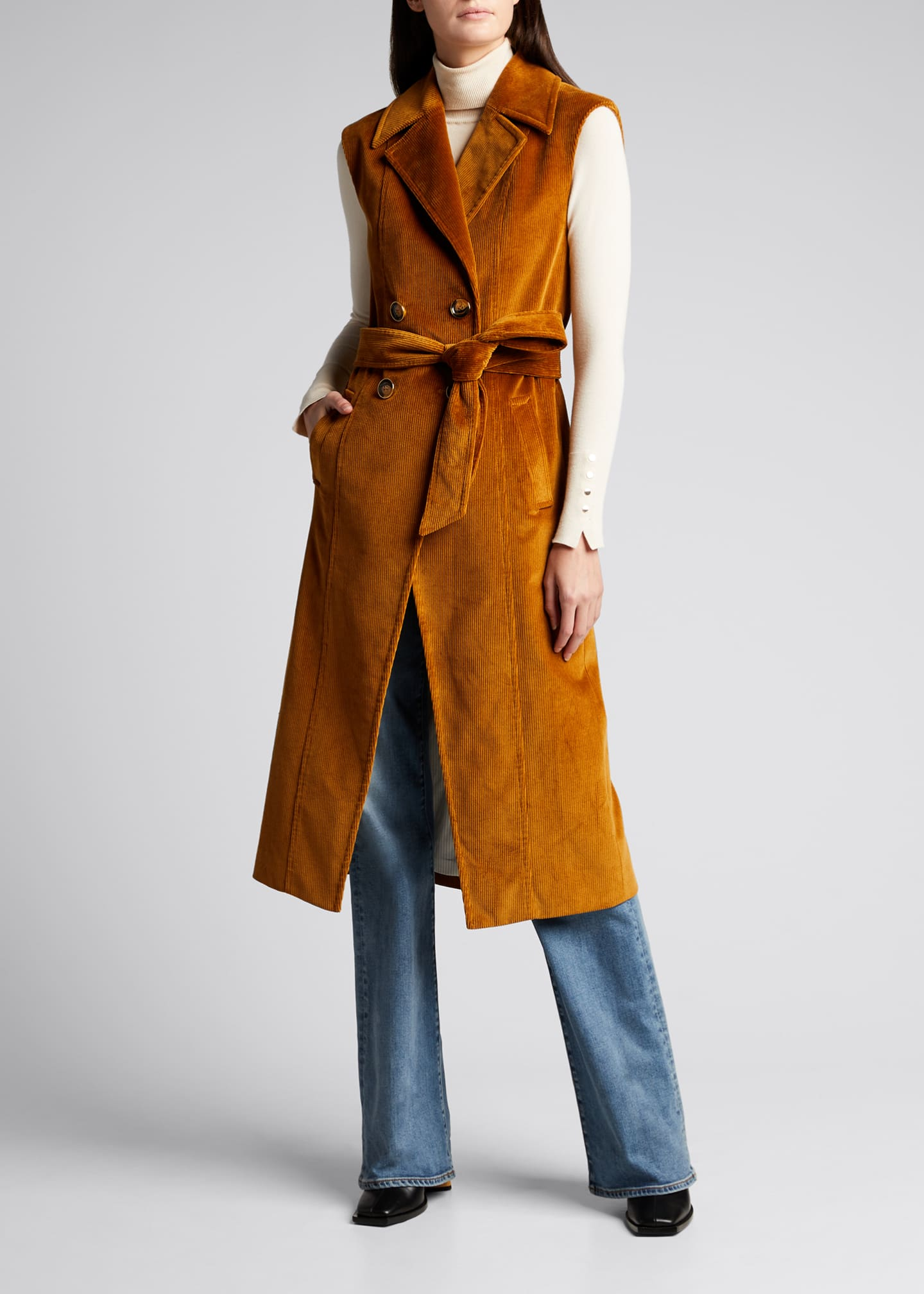 Image 1 of 5: Fayette Long Cotton Vest