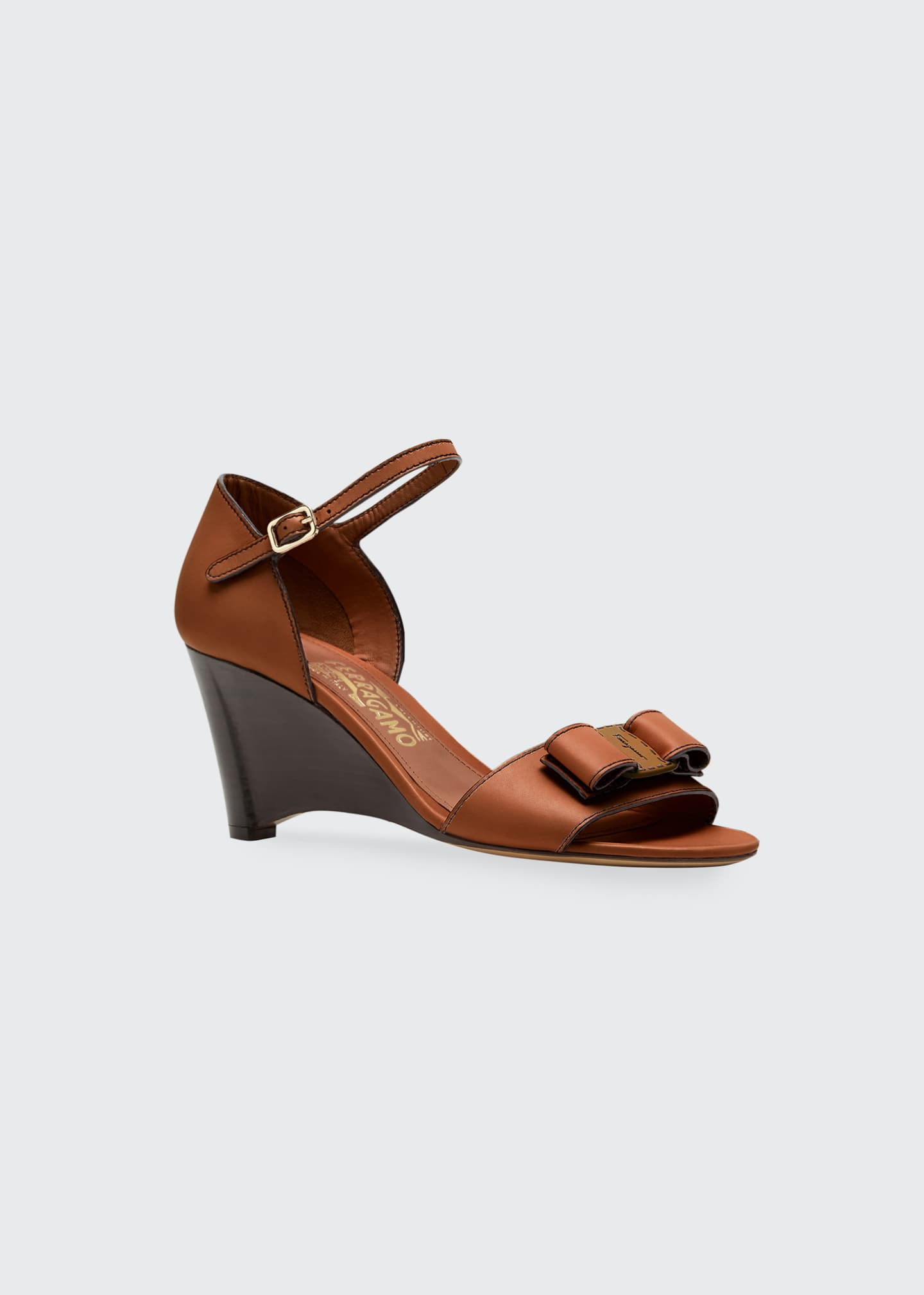 Image 2 of 3: Grette Bow Wedge Sandals