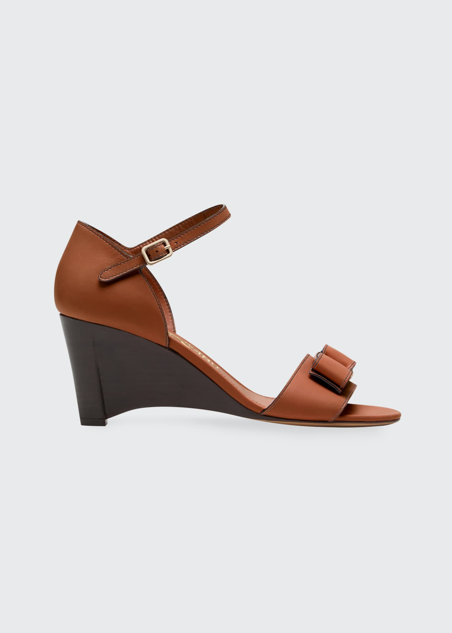 Image 1 of 3: Grette Bow Wedge Sandals