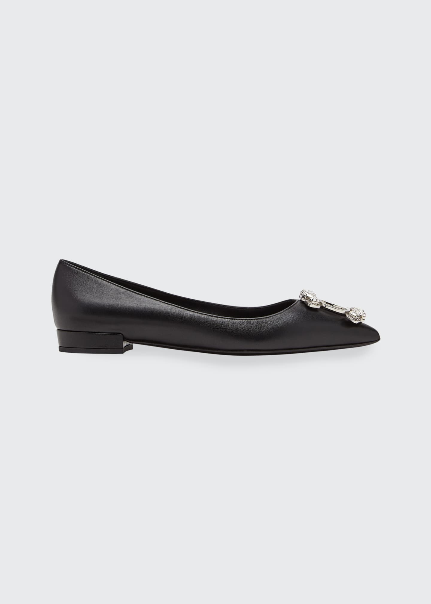 Image 1 of 4: Hailey Crystal Vara Ballerina Flats