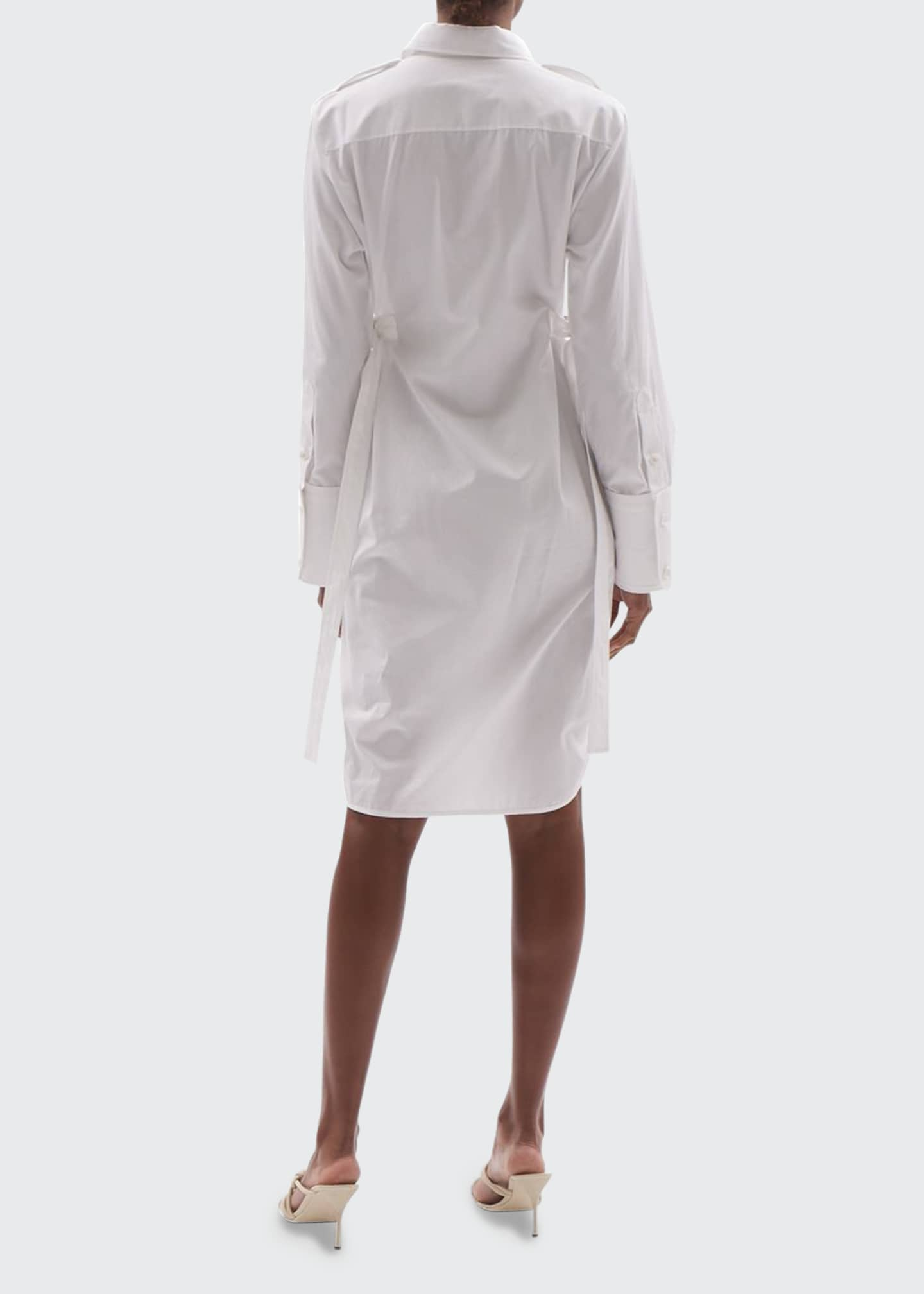 Image 2 of 3: Cotton Shirtdress with Belt