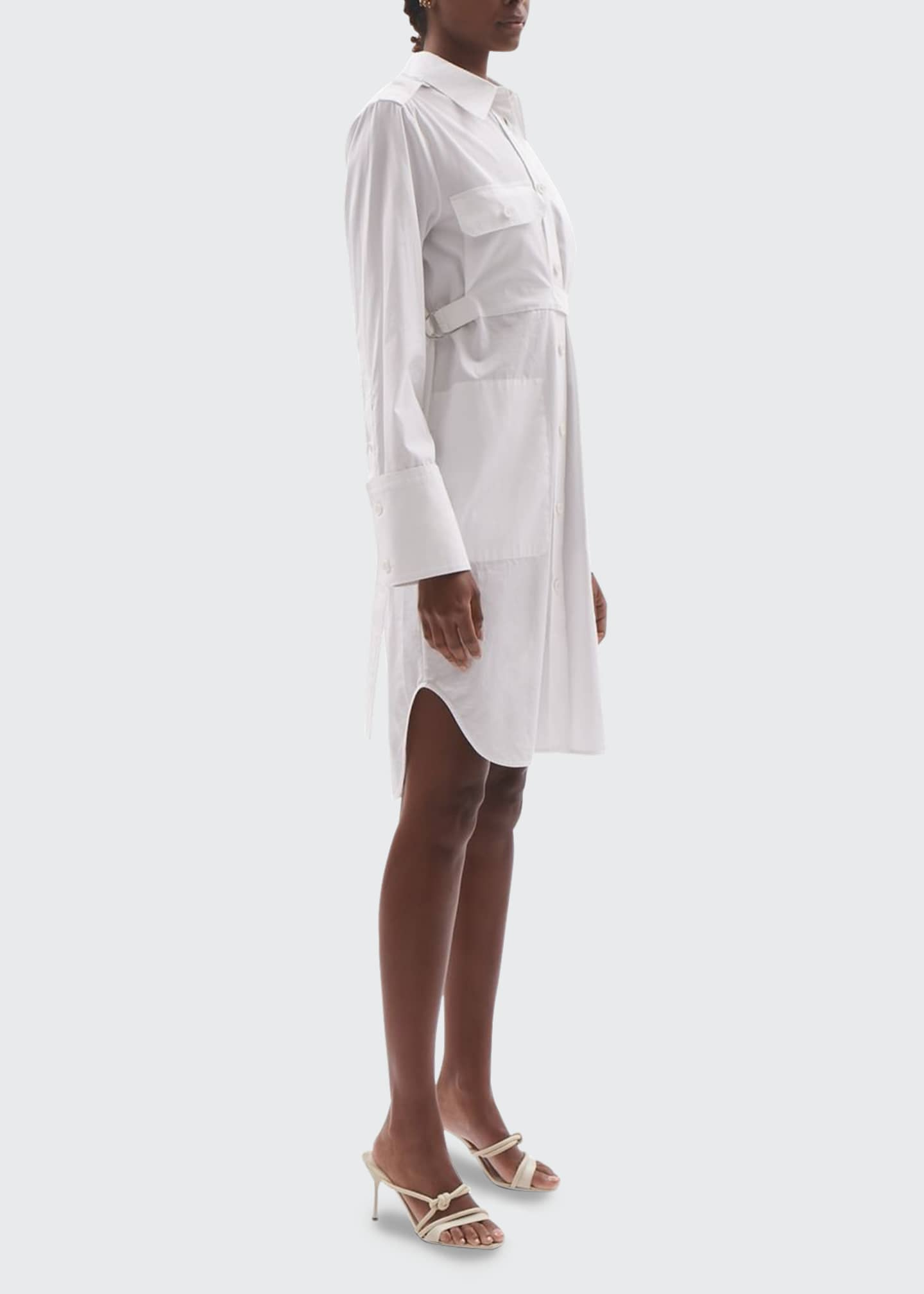 Image 3 of 3: Cotton Shirtdress with Belt
