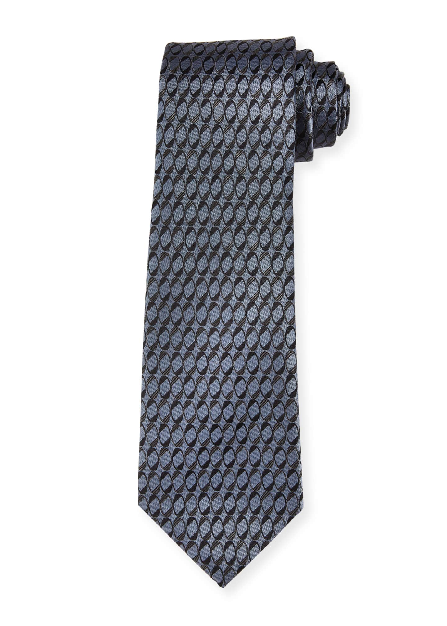 Image 1 of 1: Men's Circle-Print Tie