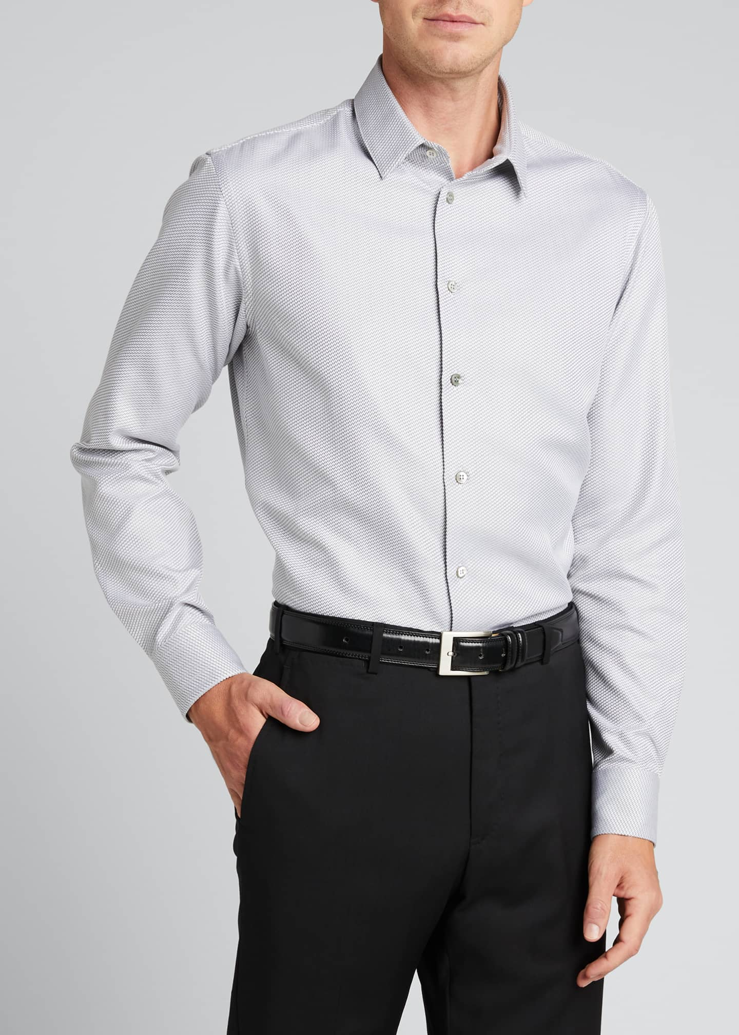 Image 3 of 5: Men's Micro-Weave Sport Shirt