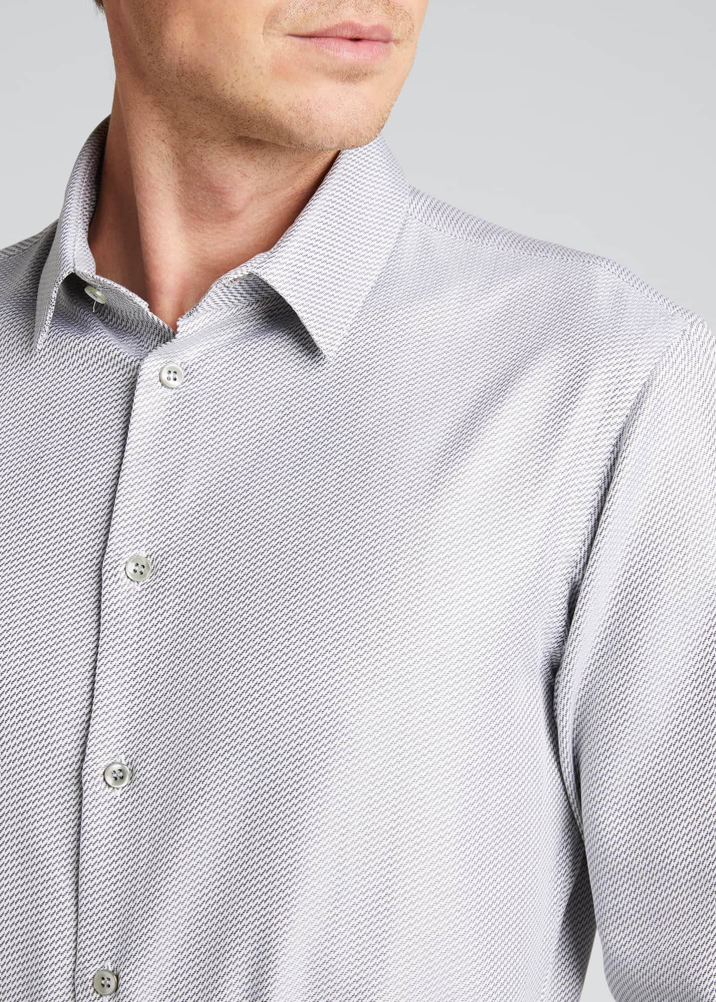 Image 4 of 5: Men's Micro-Weave Sport Shirt