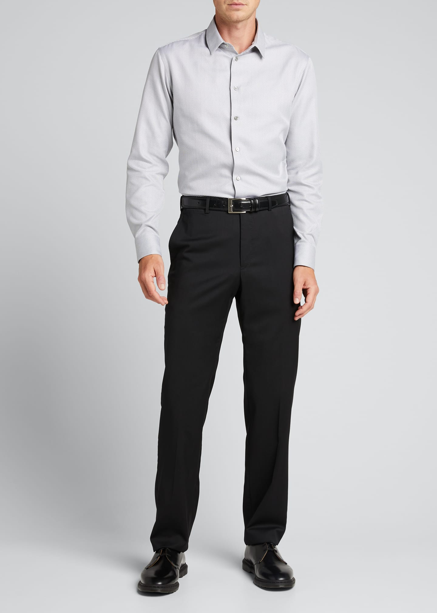 Image 1 of 5: Men's Micro-Weave Sport Shirt