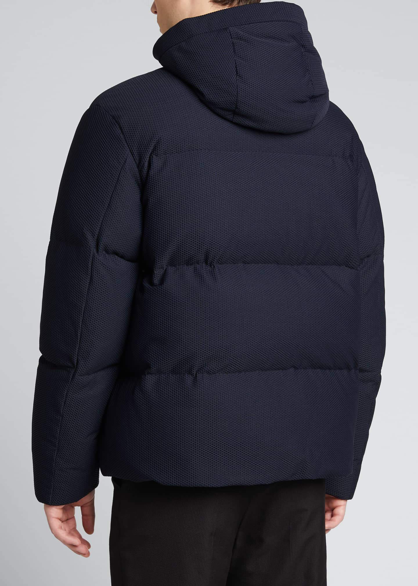 Image 2 of 5: High-Tech Honeycomb Knit Puffer Jacket