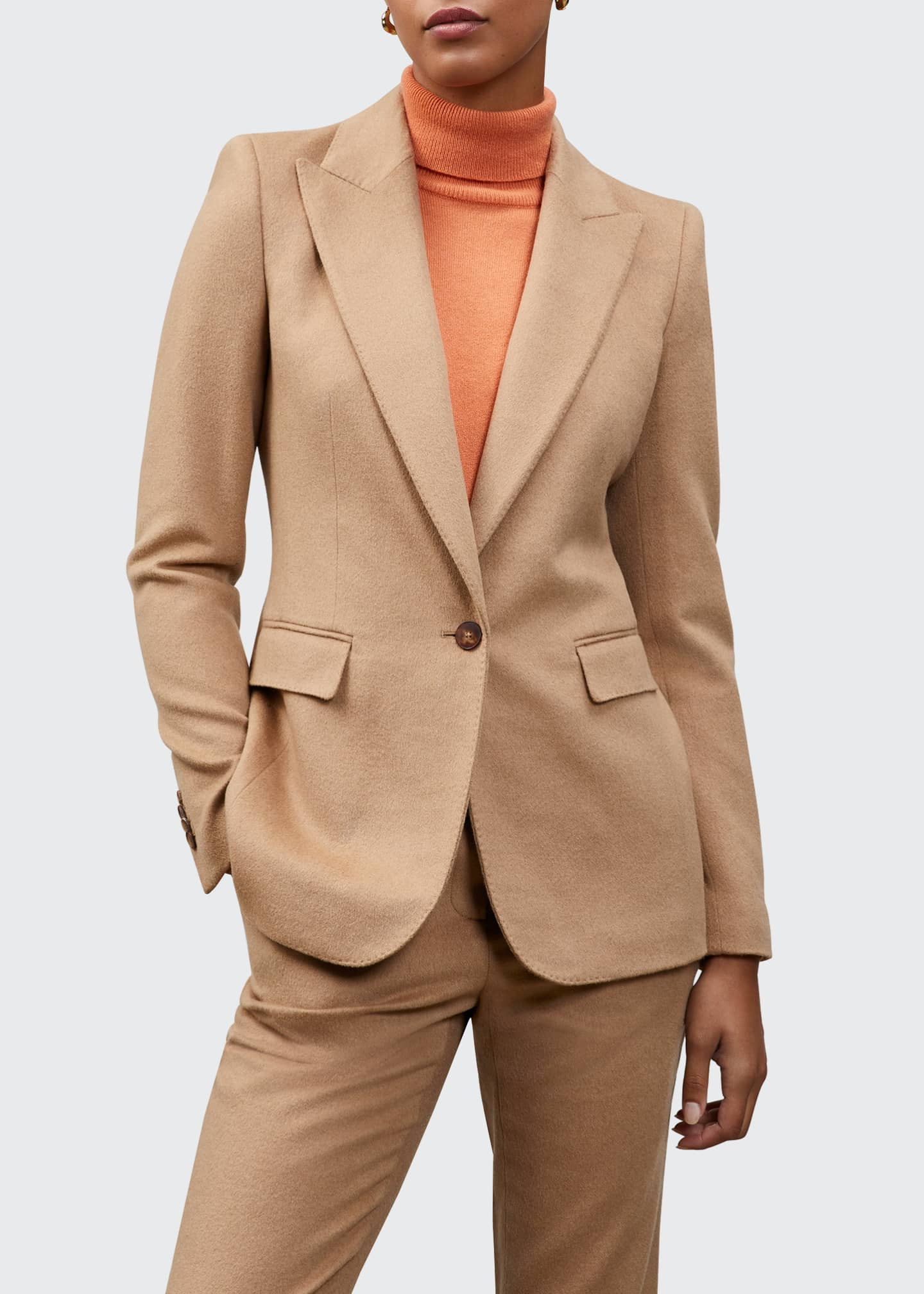 Image 1 of 1: Camel Hair Winsley Blazer