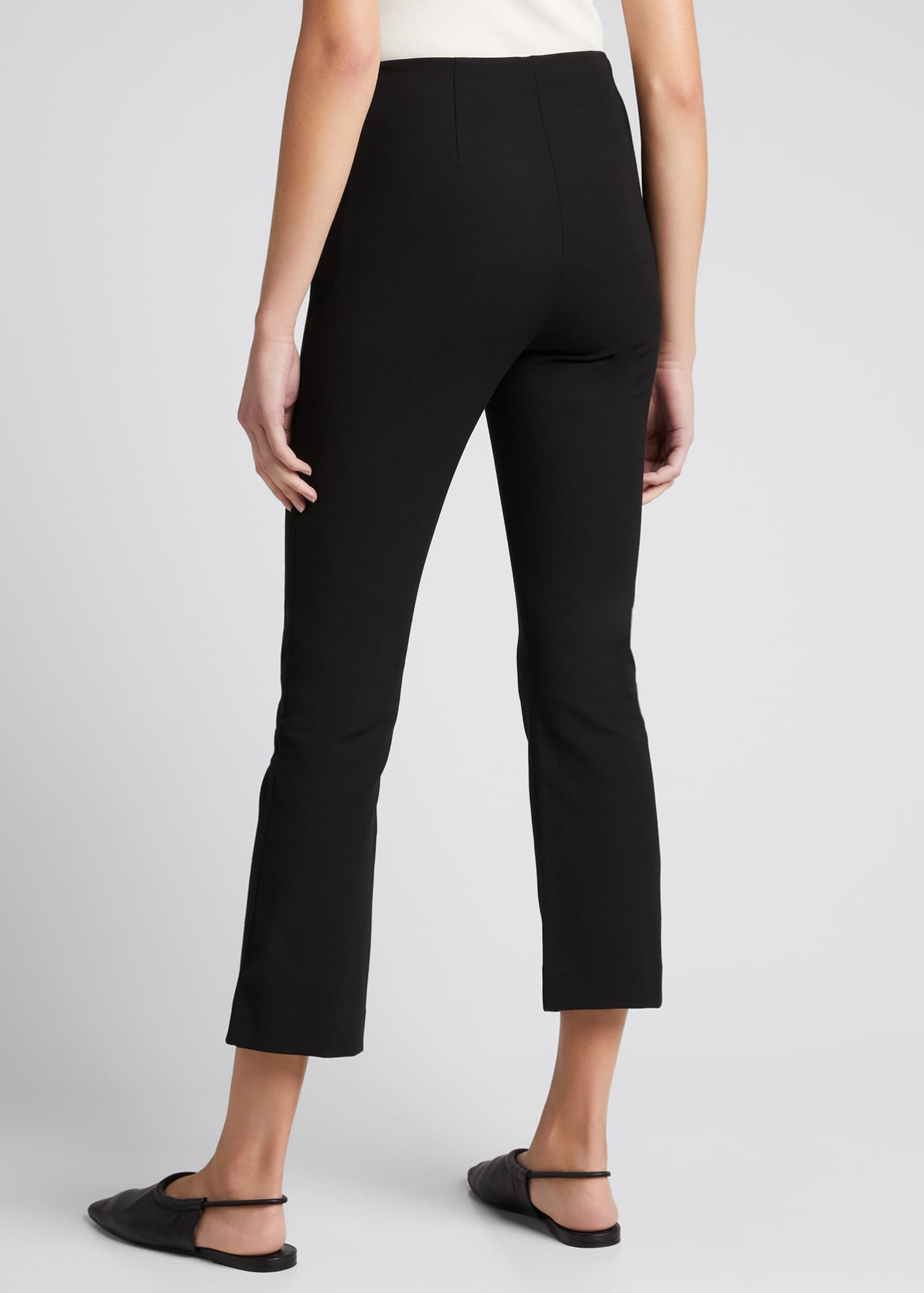 Image 2 of 4: Crop Flare Stretch Pants