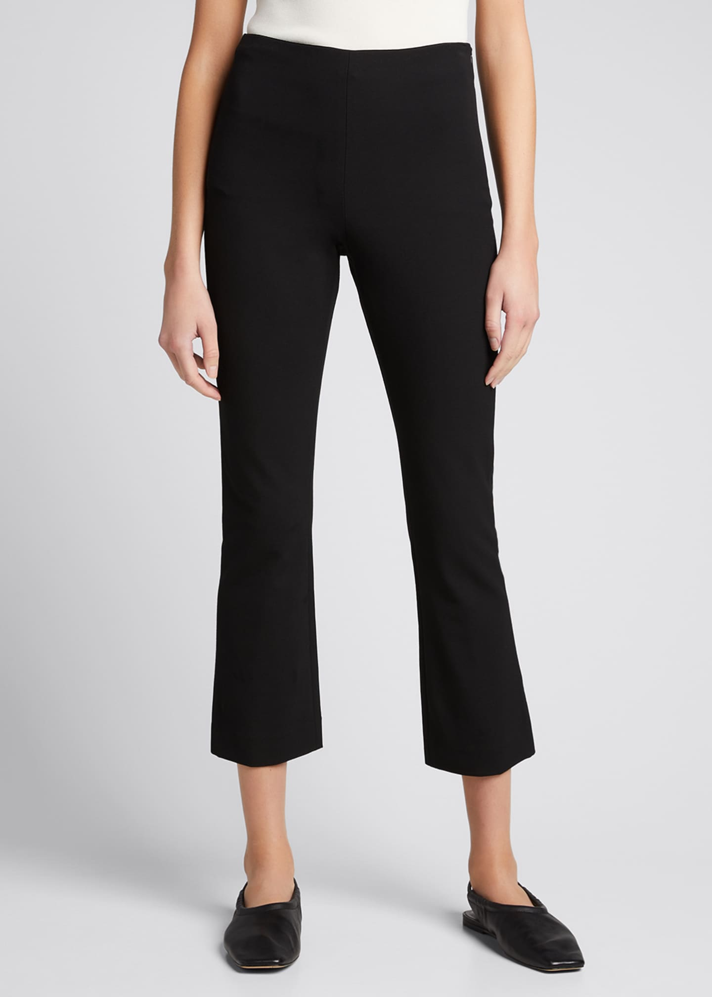 Image 3 of 4: Crop Flare Stretch Pants