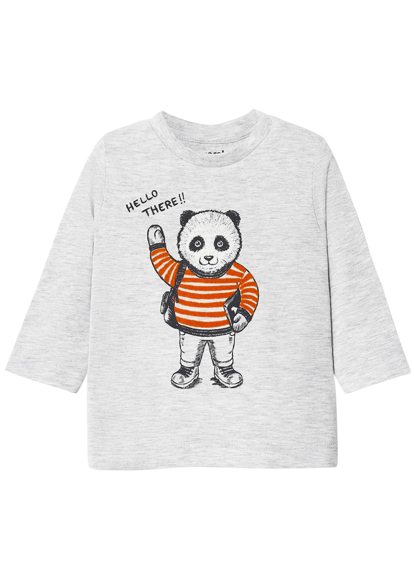 Image 1 of 1: Boy's Long-Sleeve Panda T-Shirt, Size 6-36 Months