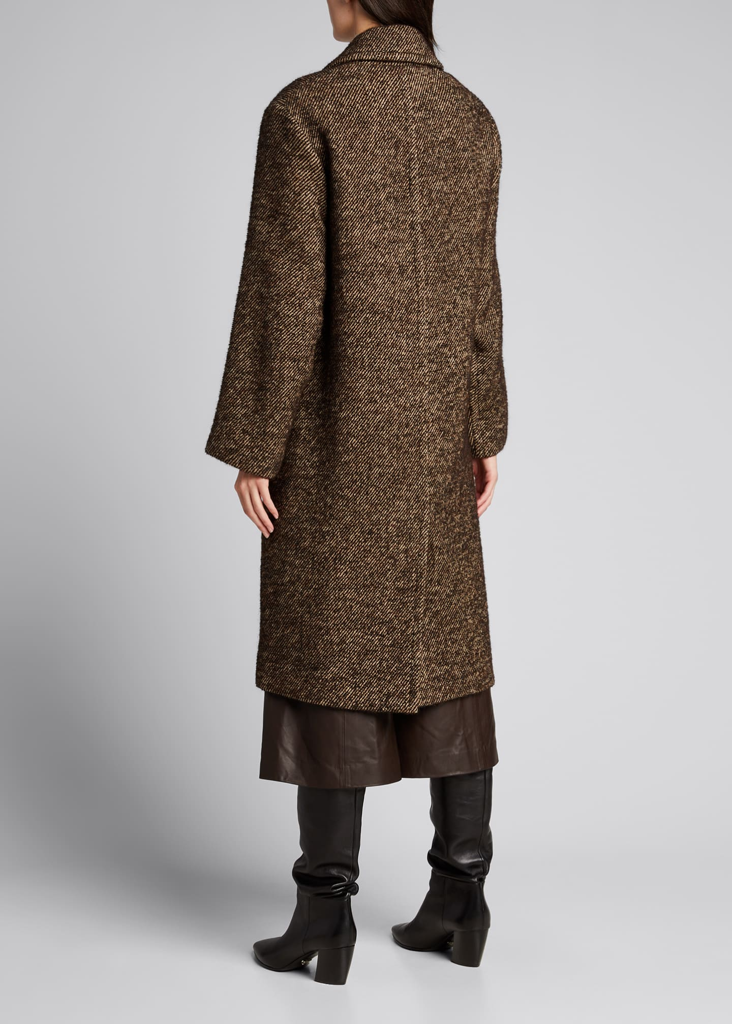 Image 2 of 5: Long Twill Coat