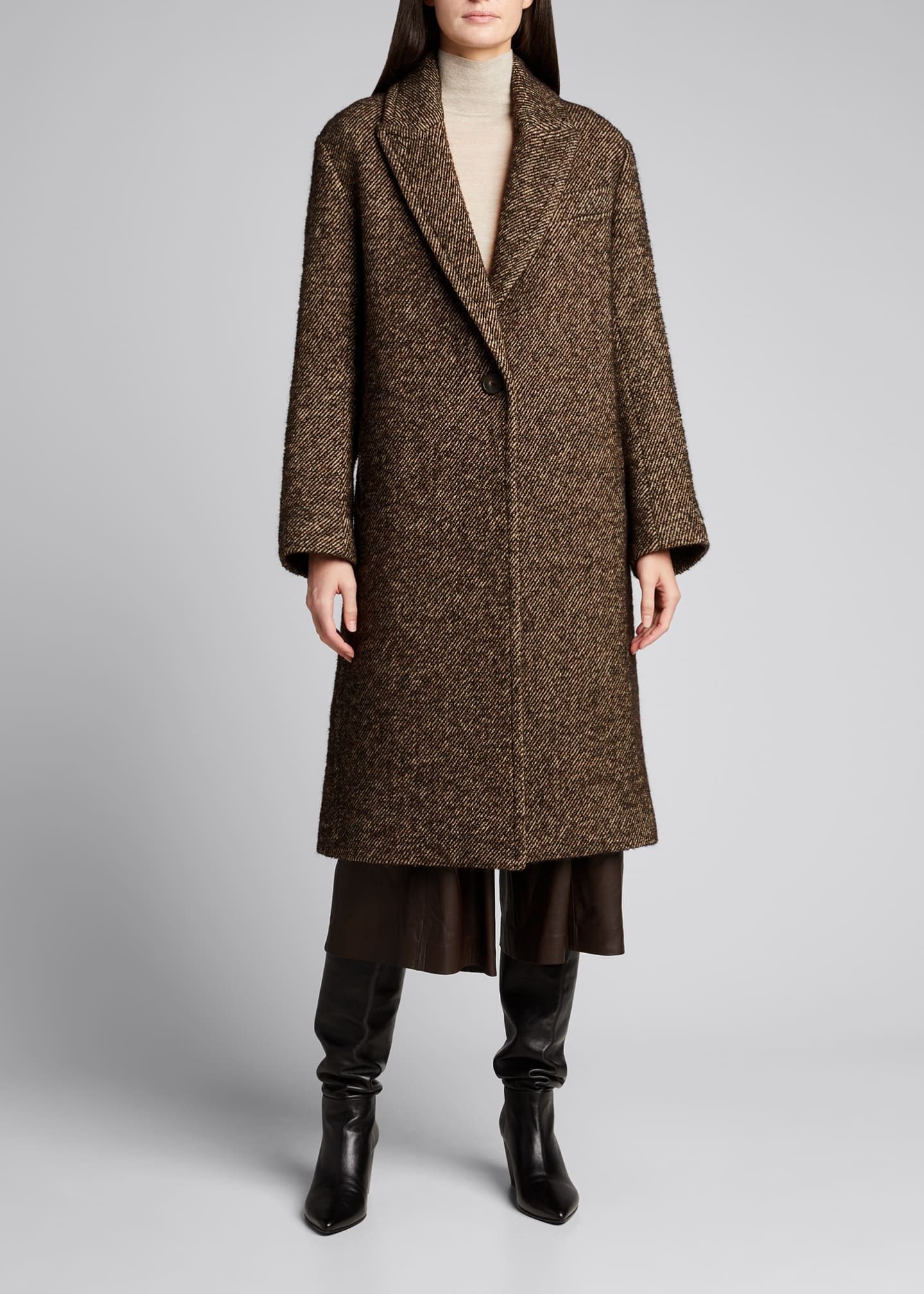 Image 3 of 5: Long Twill Coat