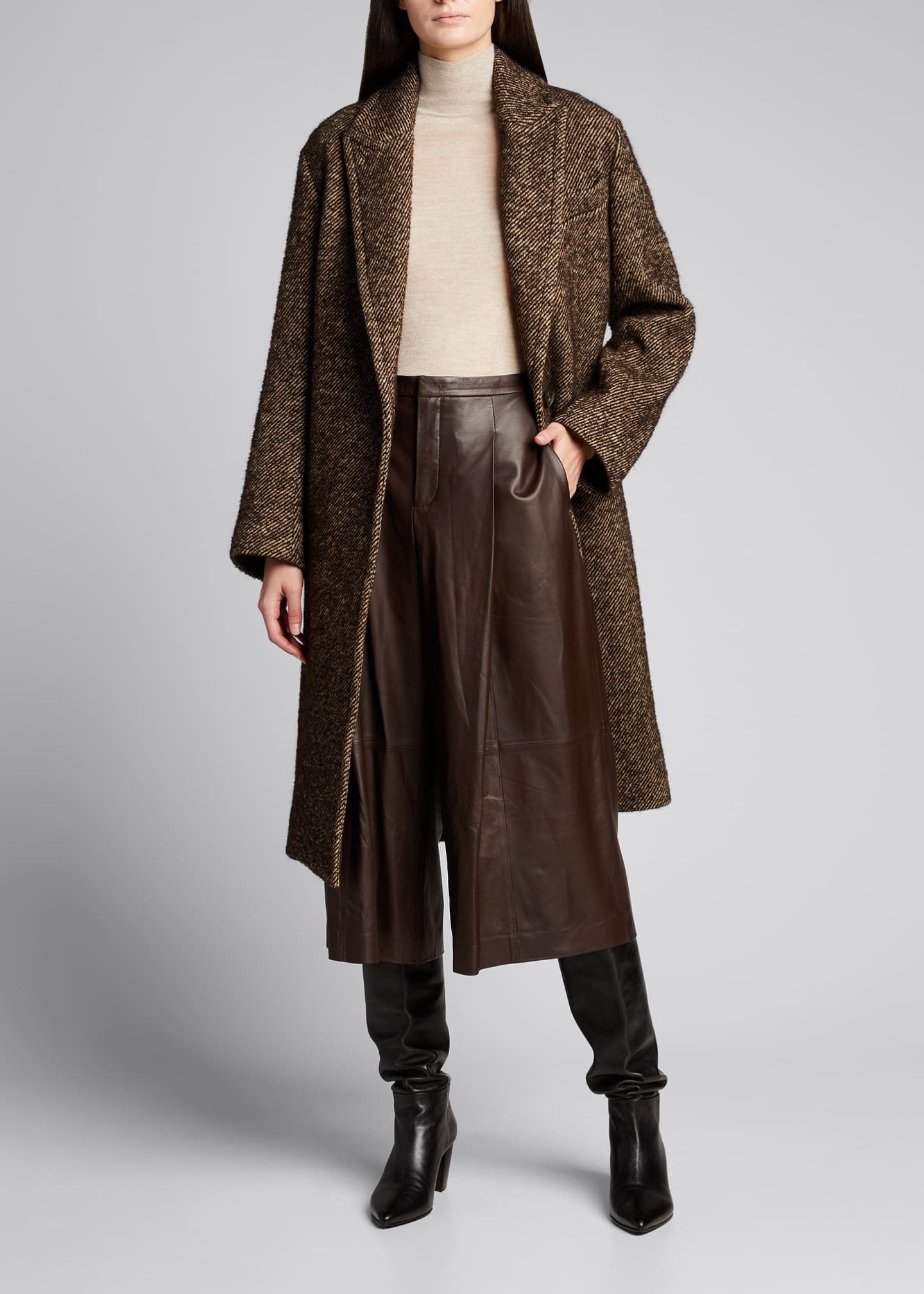 Image 1 of 5: Long Twill Coat