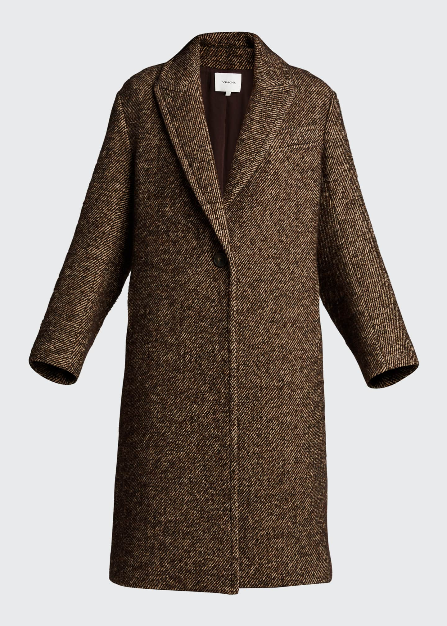 Image 5 of 5: Long Twill Coat