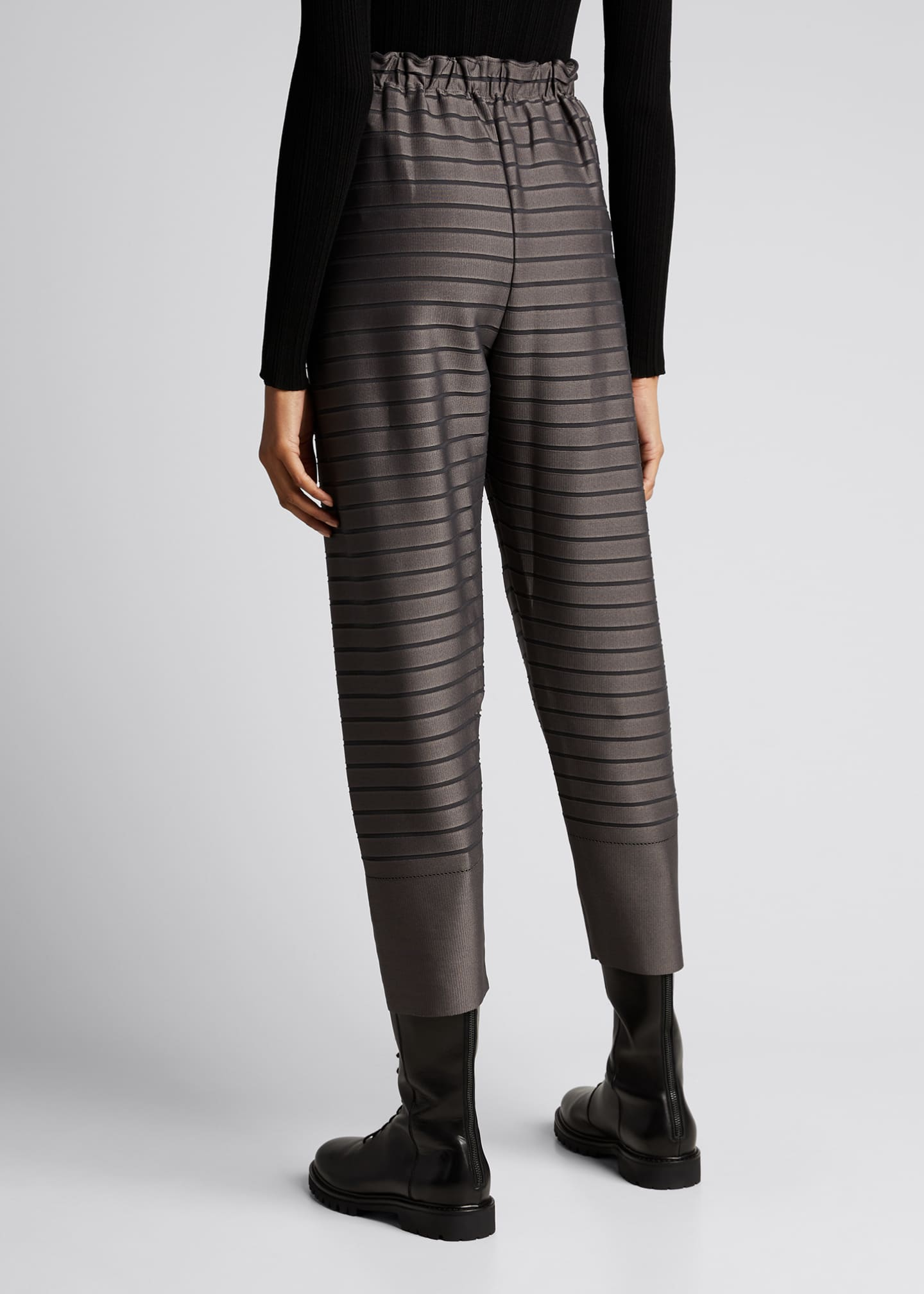 Image 2 of 5: Stripe Cropped Trousers