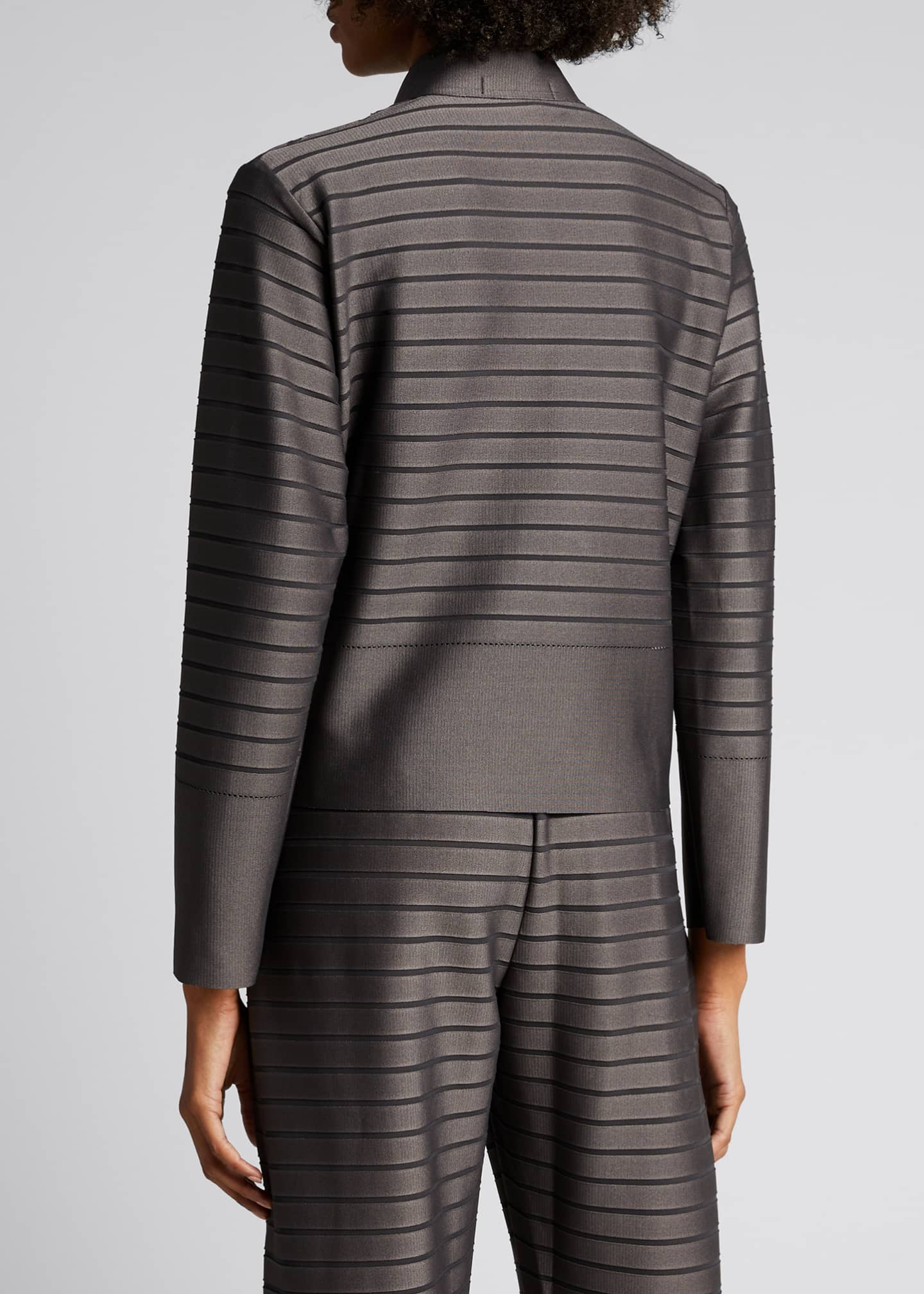 Image 2 of 5: Stripe Knit Jacket