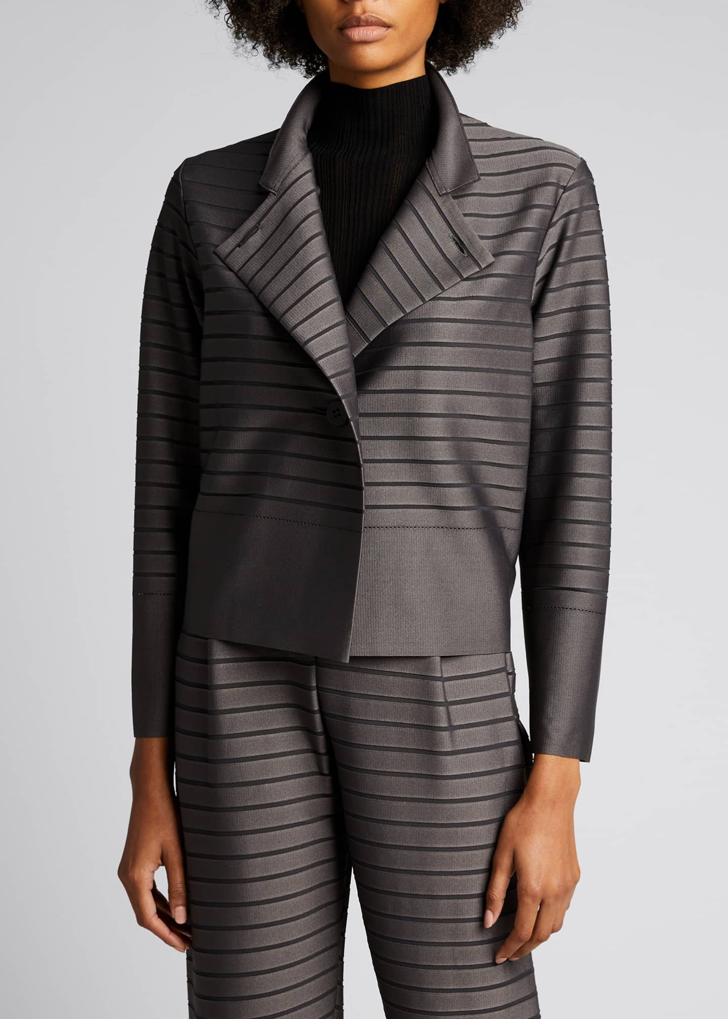 Image 3 of 5: Stripe Knit Jacket