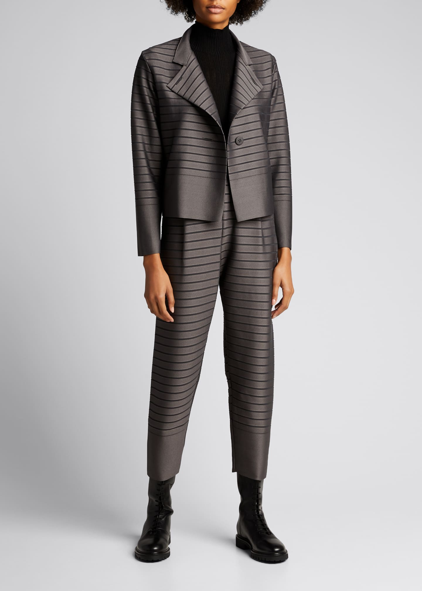Image 1 of 5: Stripe Knit Jacket