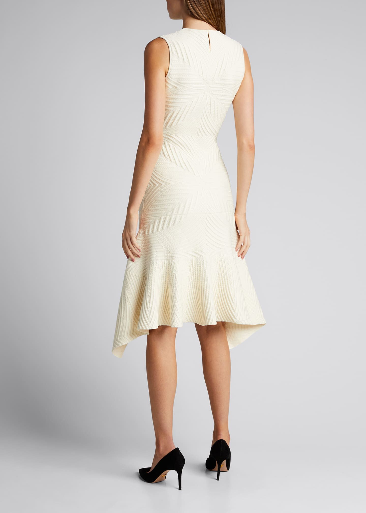 Image 2 of 5: Textured Asymmetric Wool-Blend Dress