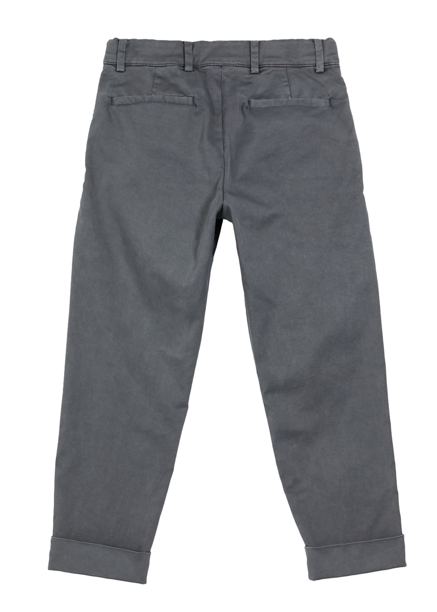 Image 2 of 2: Boy's Cotton Twill Pleated Chinos, Size 4-6