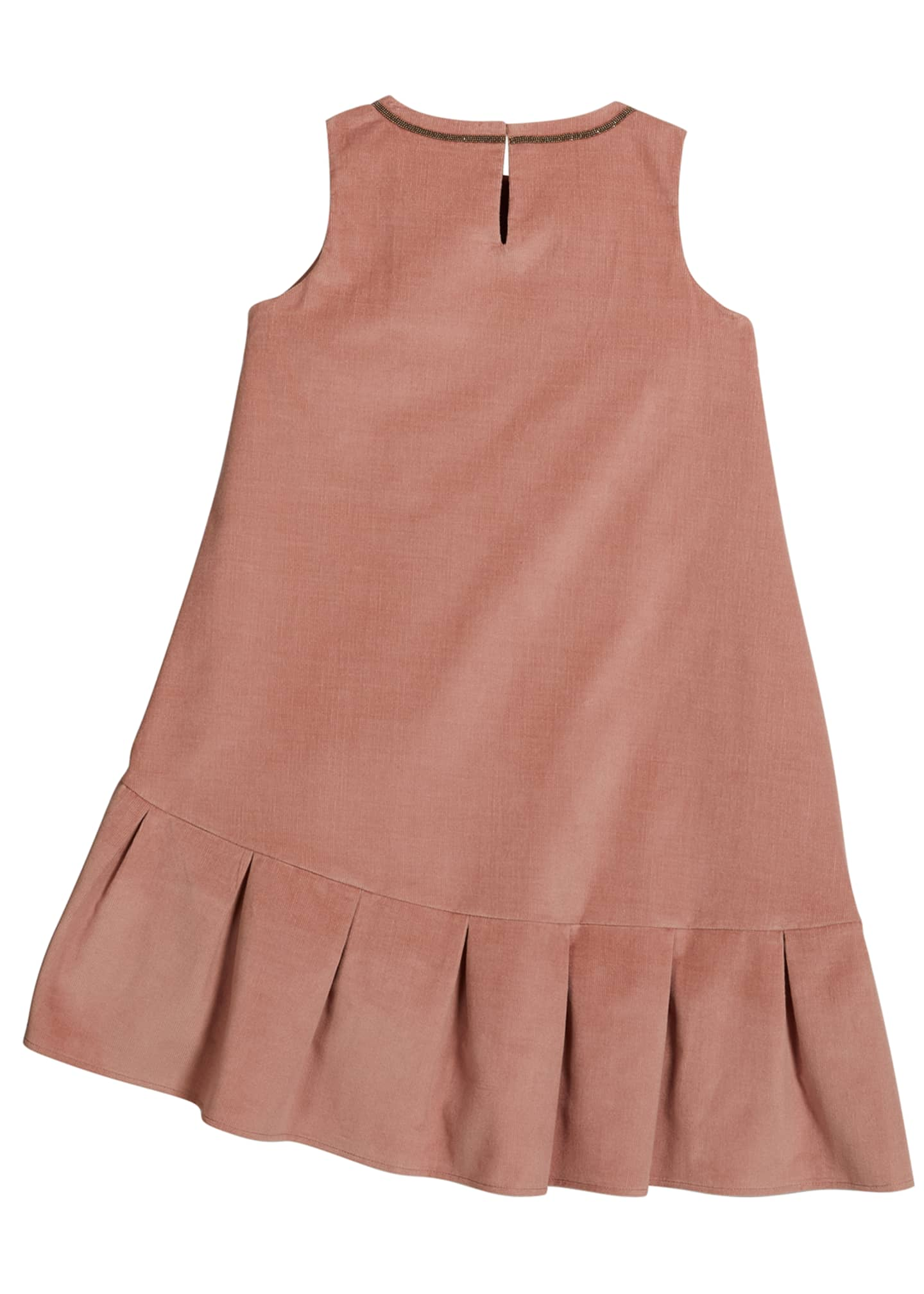 Image 2 of 2: Girl's Corduroy Monili Sleeveless Dress, Size 4-6