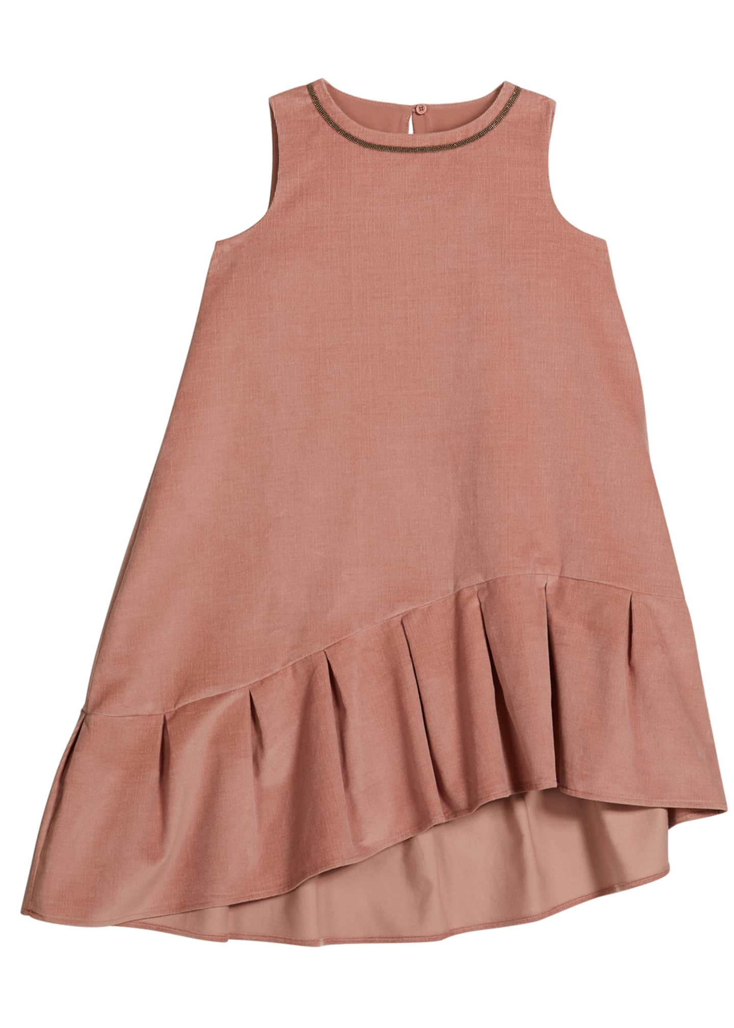 Girl's Corduroy Monili Sleeveless Dress, Size 4-6