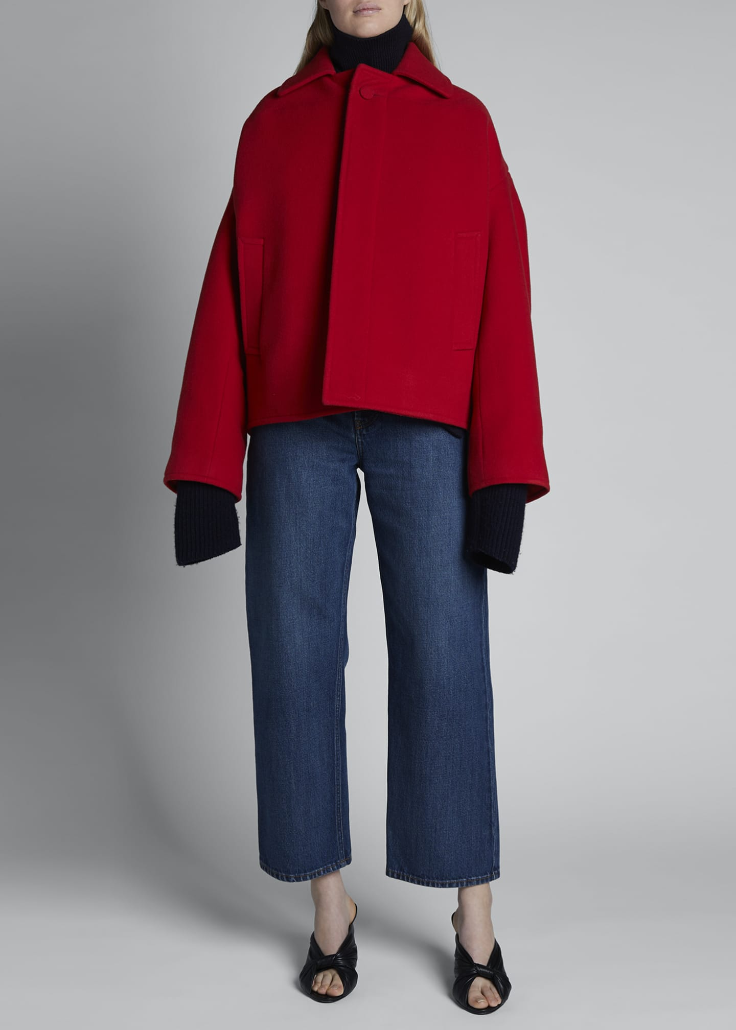 Image 3 of 5: Upside Down Wool-Cashmere Peacoat