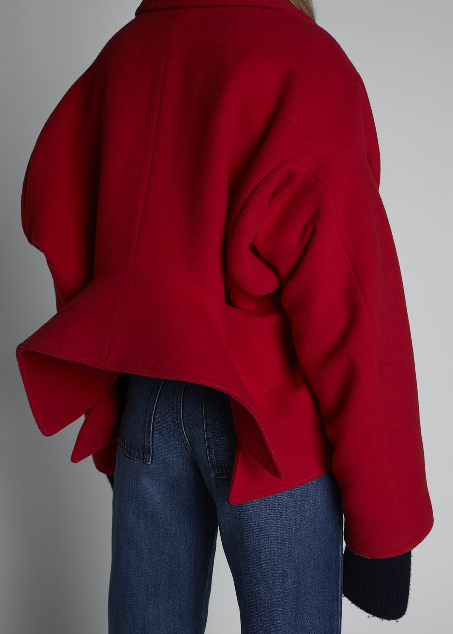 Image 4 of 5: Upside Down Wool-Cashmere Peacoat