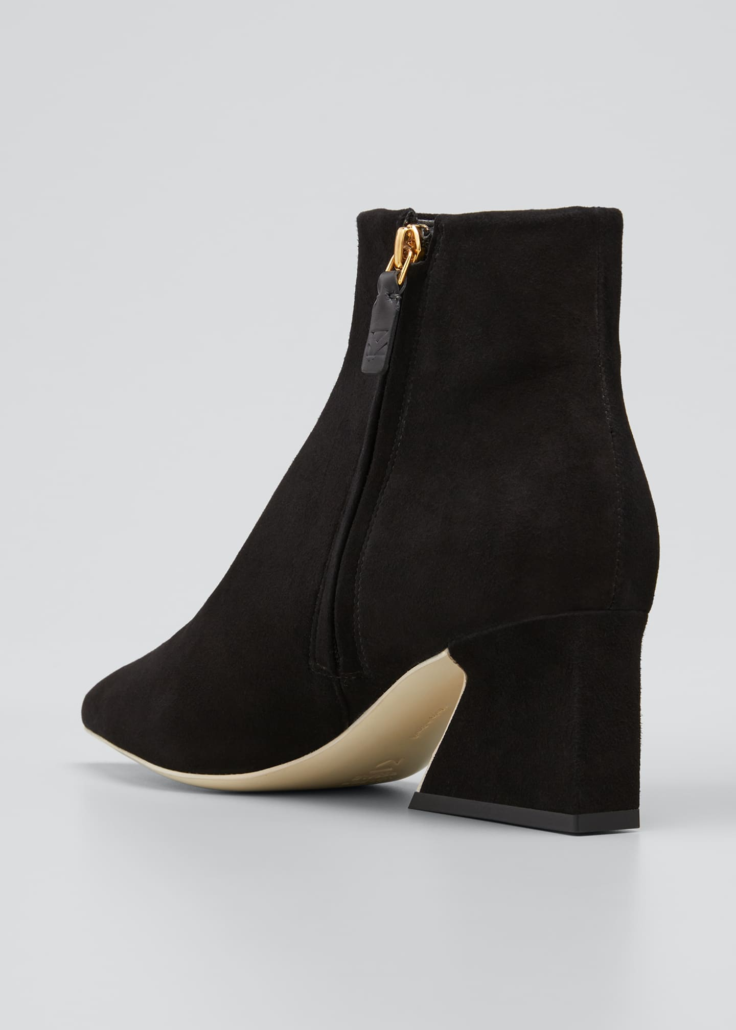 Image 2 of 3: Grace 60mm Pointed Suede Ankle Boots