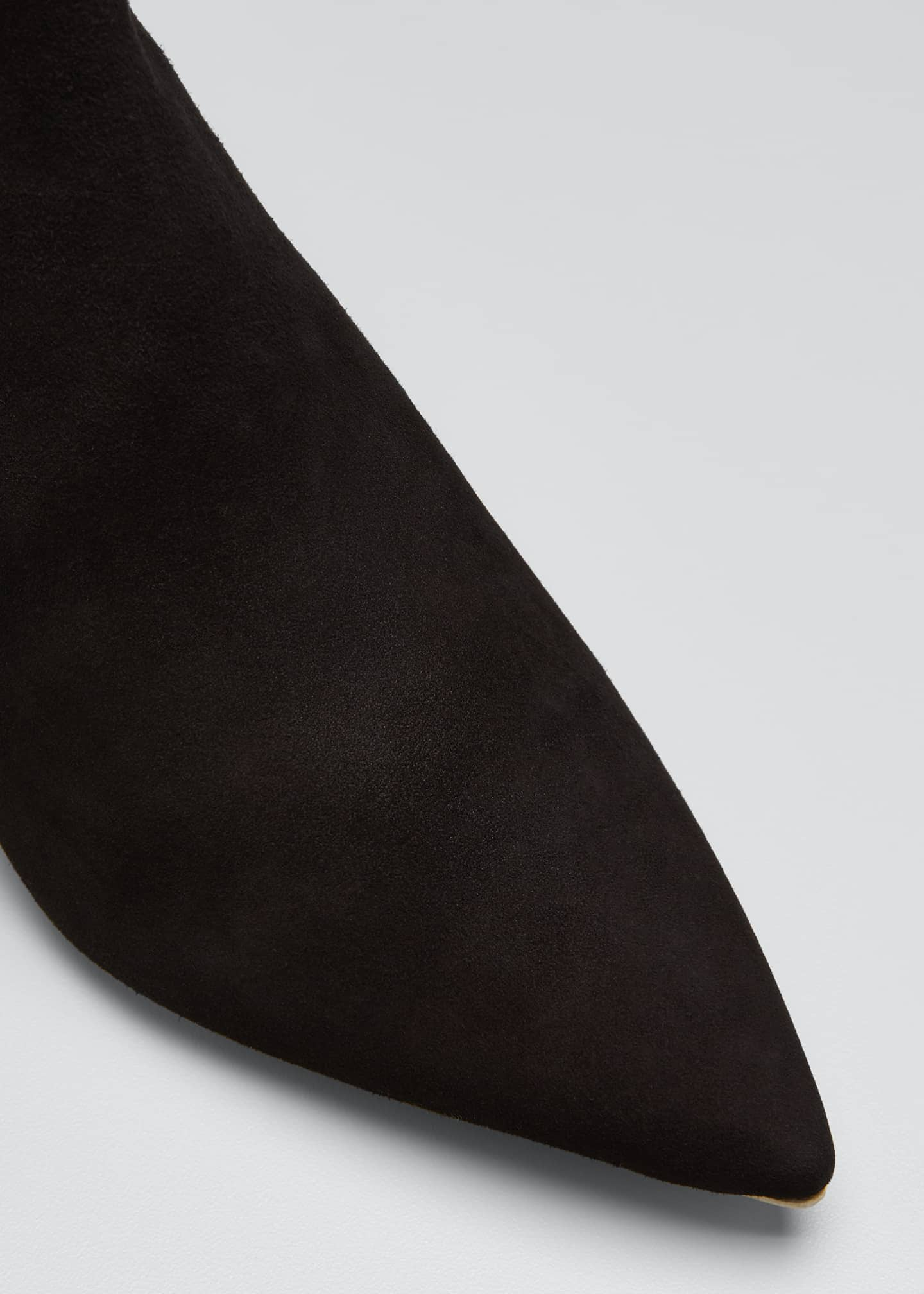 Image 3 of 3: Grace 60mm Pointed Suede Ankle Boots