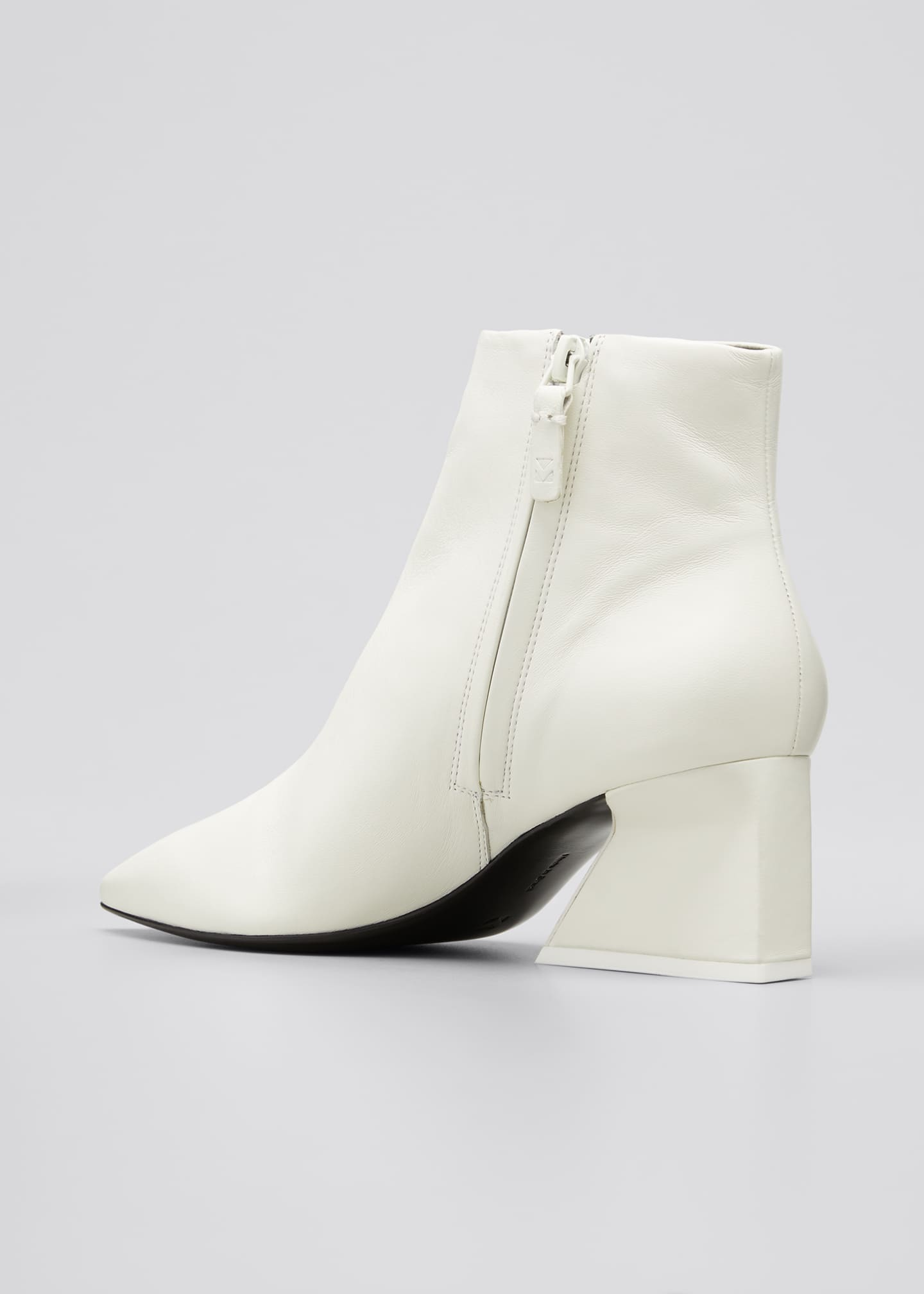 Image 2 of 3: 60mm Grace Leather Zip Booties