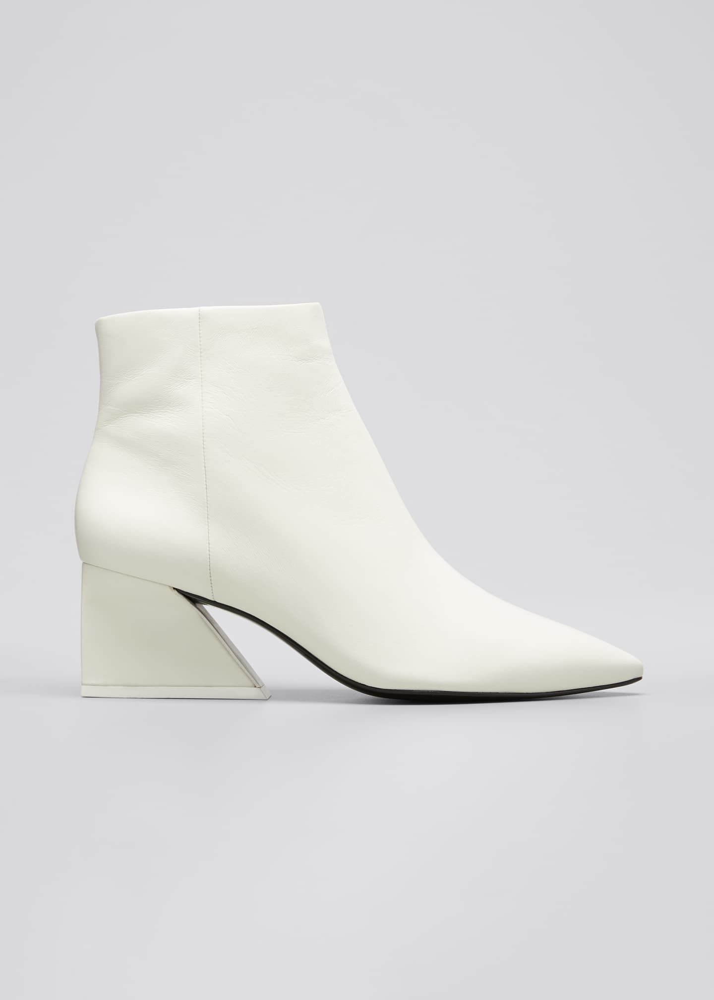 Image 1 of 3: 60mm Grace Leather Zip Booties
