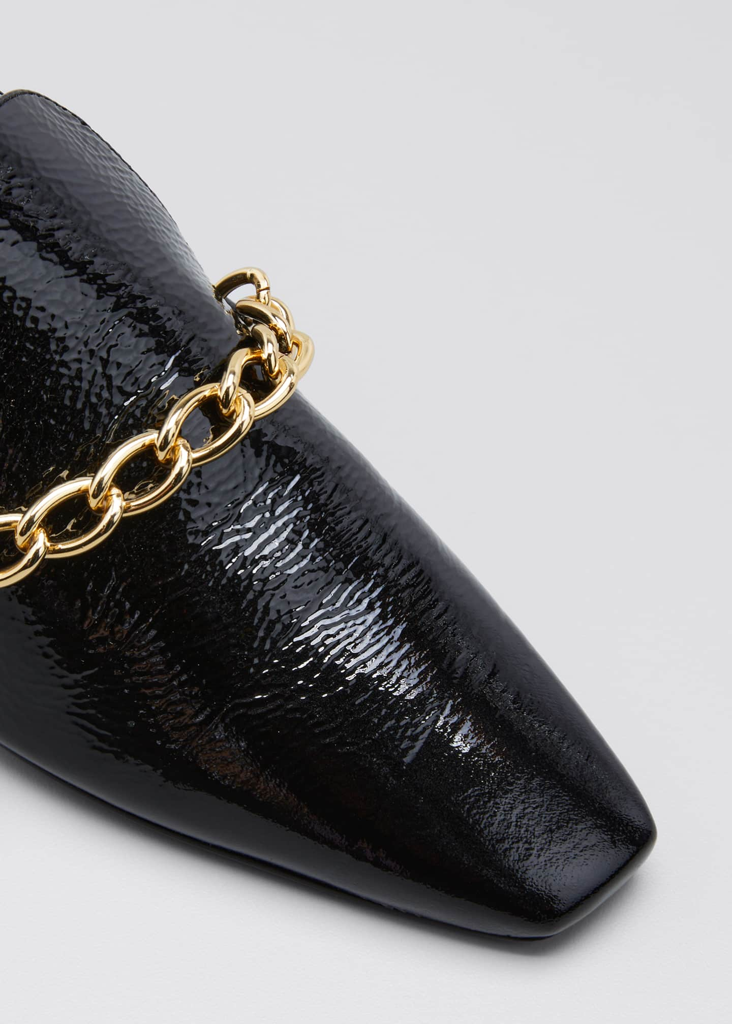 Image 3 of 3: Harriet Chain Loafer Pumps