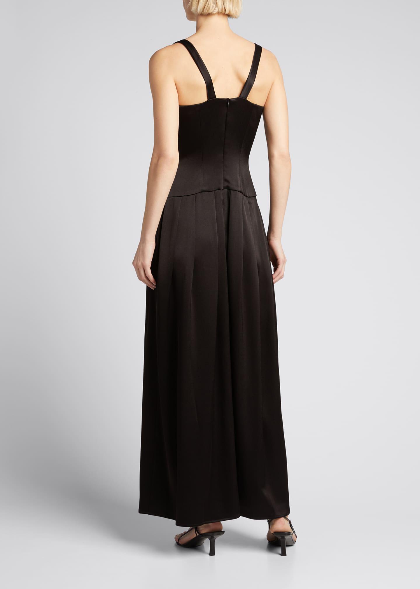 ASOS TALL Pleated Paneled Satin Maxi Dress - Multi   Satin