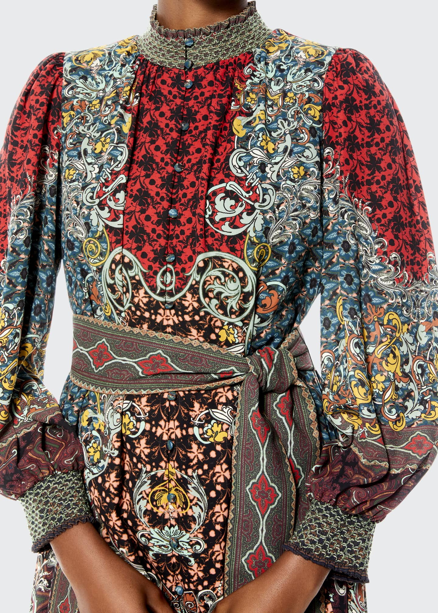 Image 3 of 4: Brielle Smocked Kimono Dress