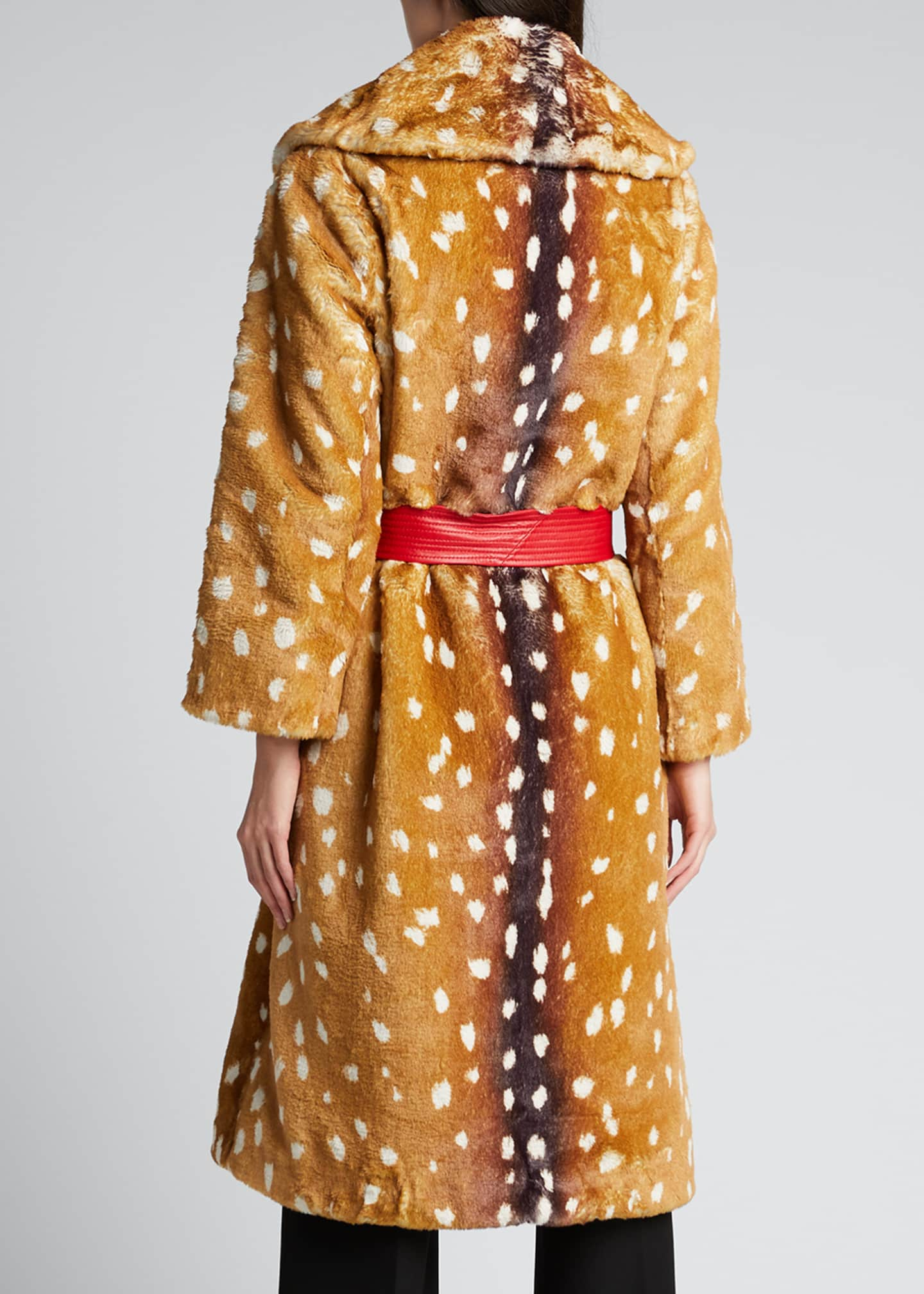 Image 2 of 5: The Faux Fur Fawn-Print Coat