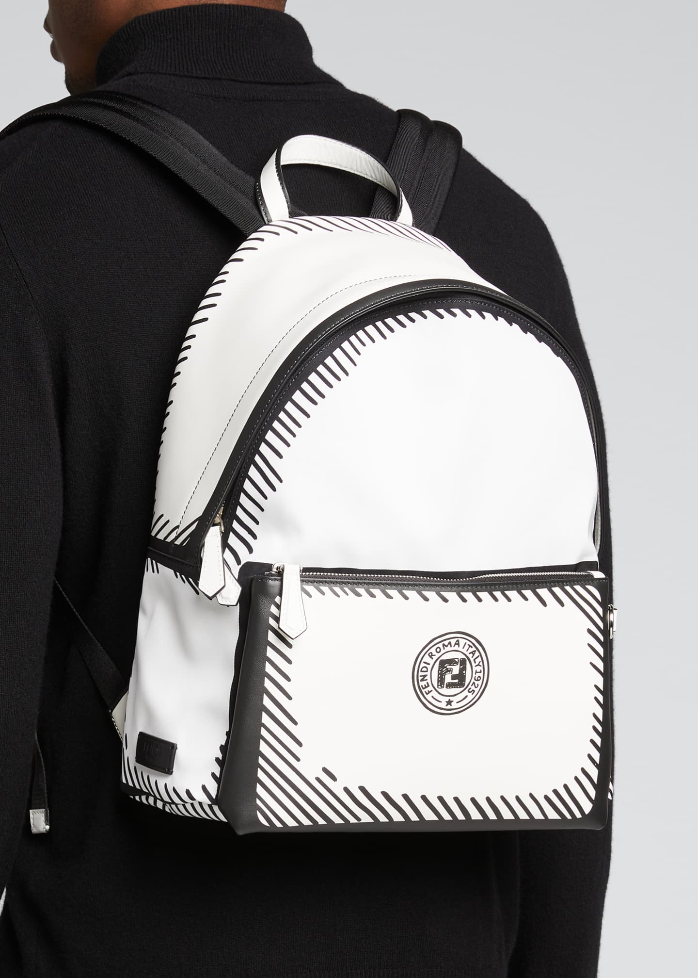 Image 2 of 5: Men's Roma Sketch-Print Backpack